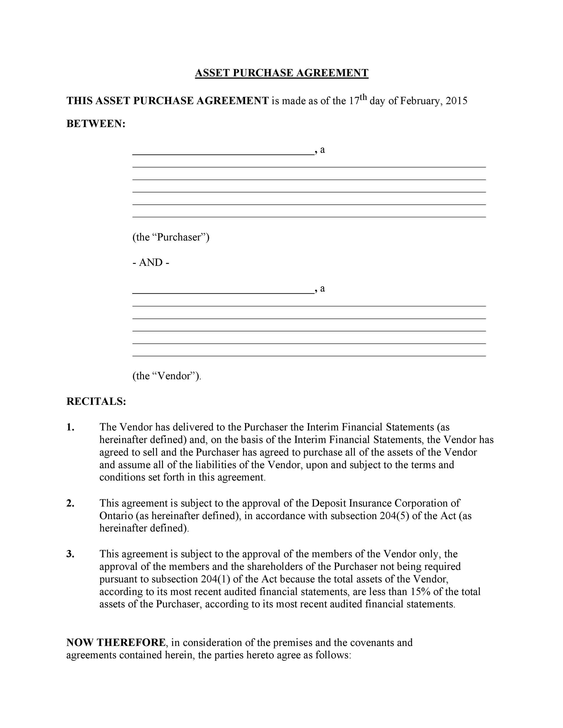 37 Simple Purchase Agreement Templates Real Estate, Business - printable purchase agreement