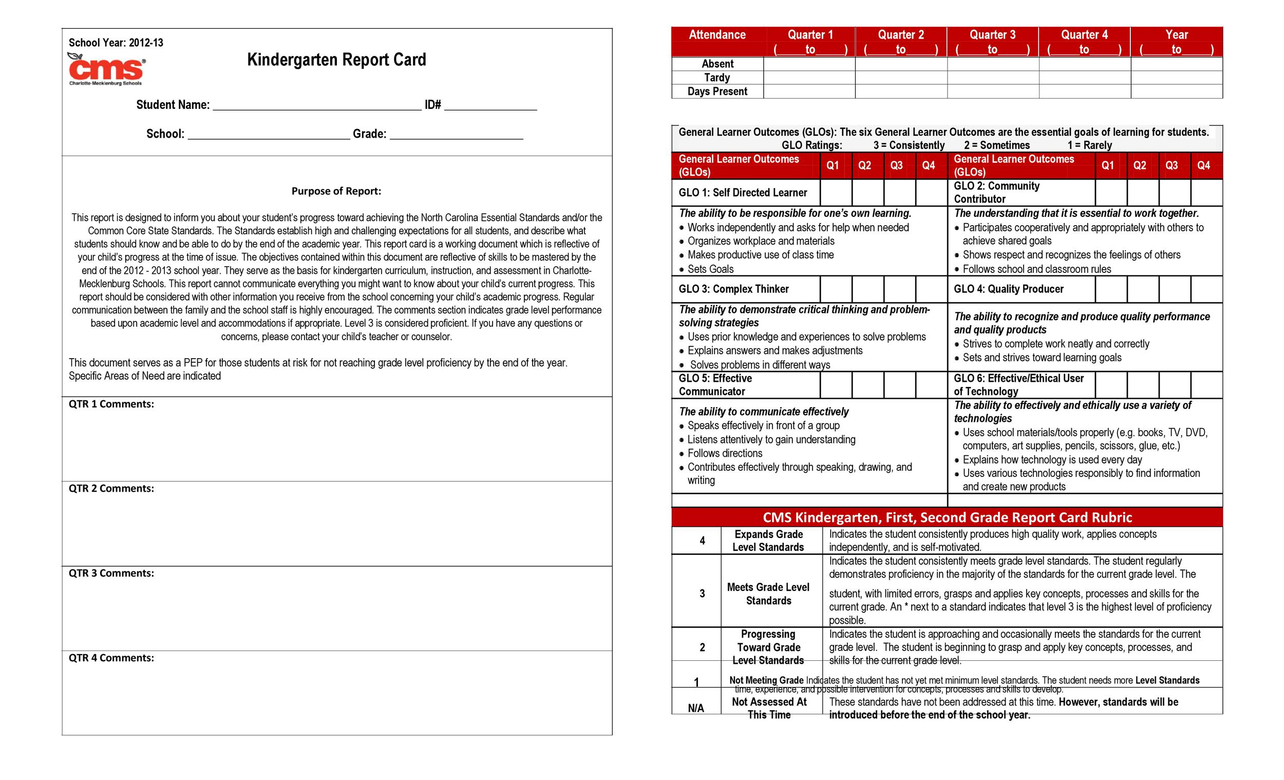 homeschool report card template pro-thai