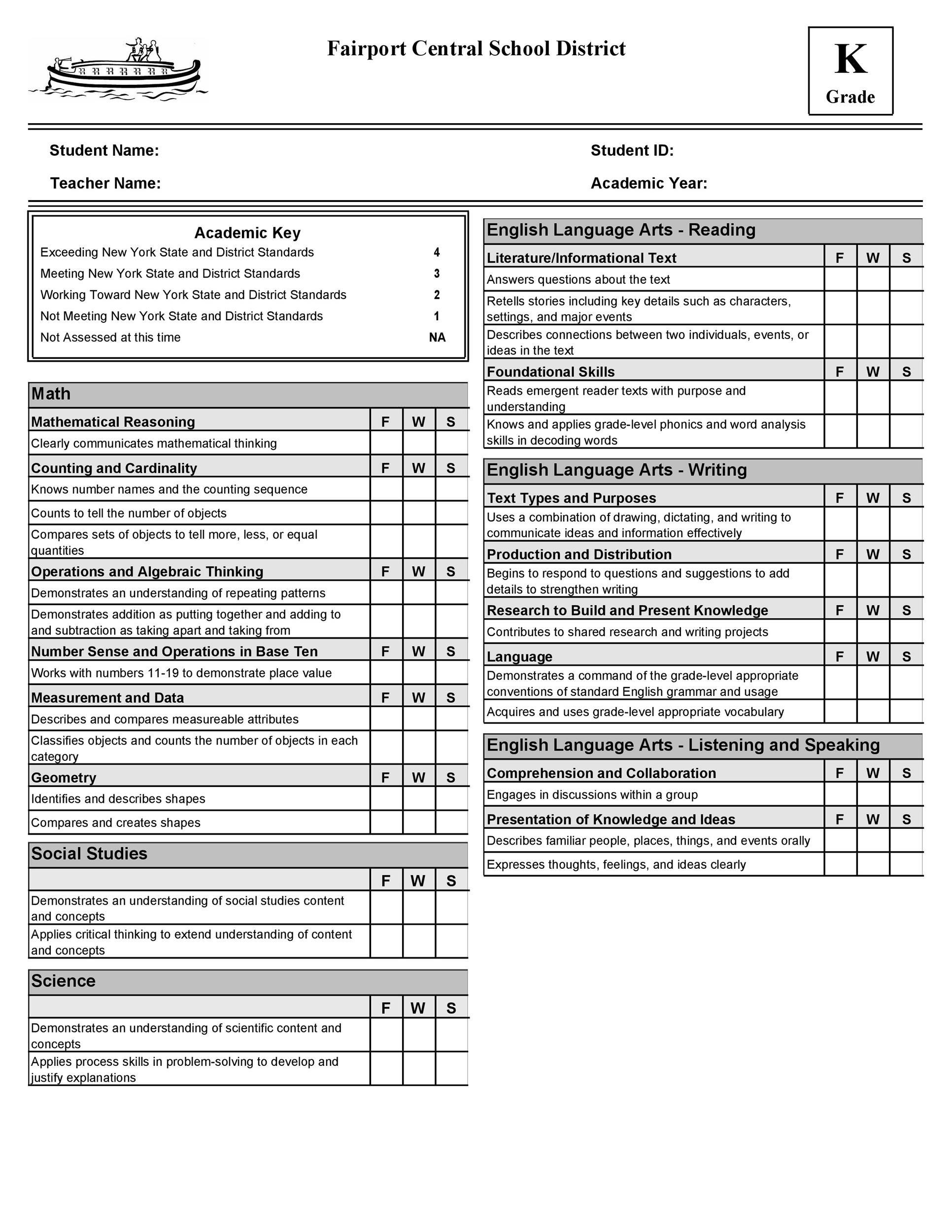 30+ Real  Fake Report Card Templates Homeschool, High School