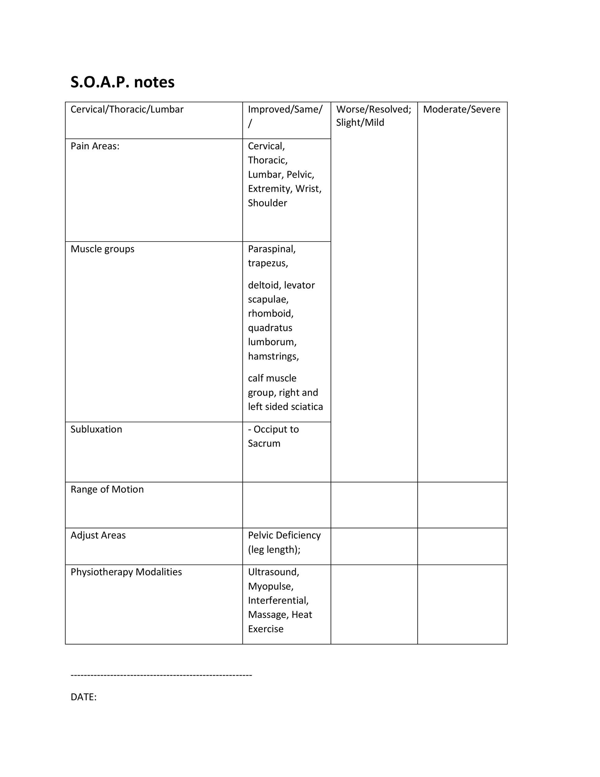 40 Fantastic SOAP Note Examples  Templates - Template Lab - soap note template