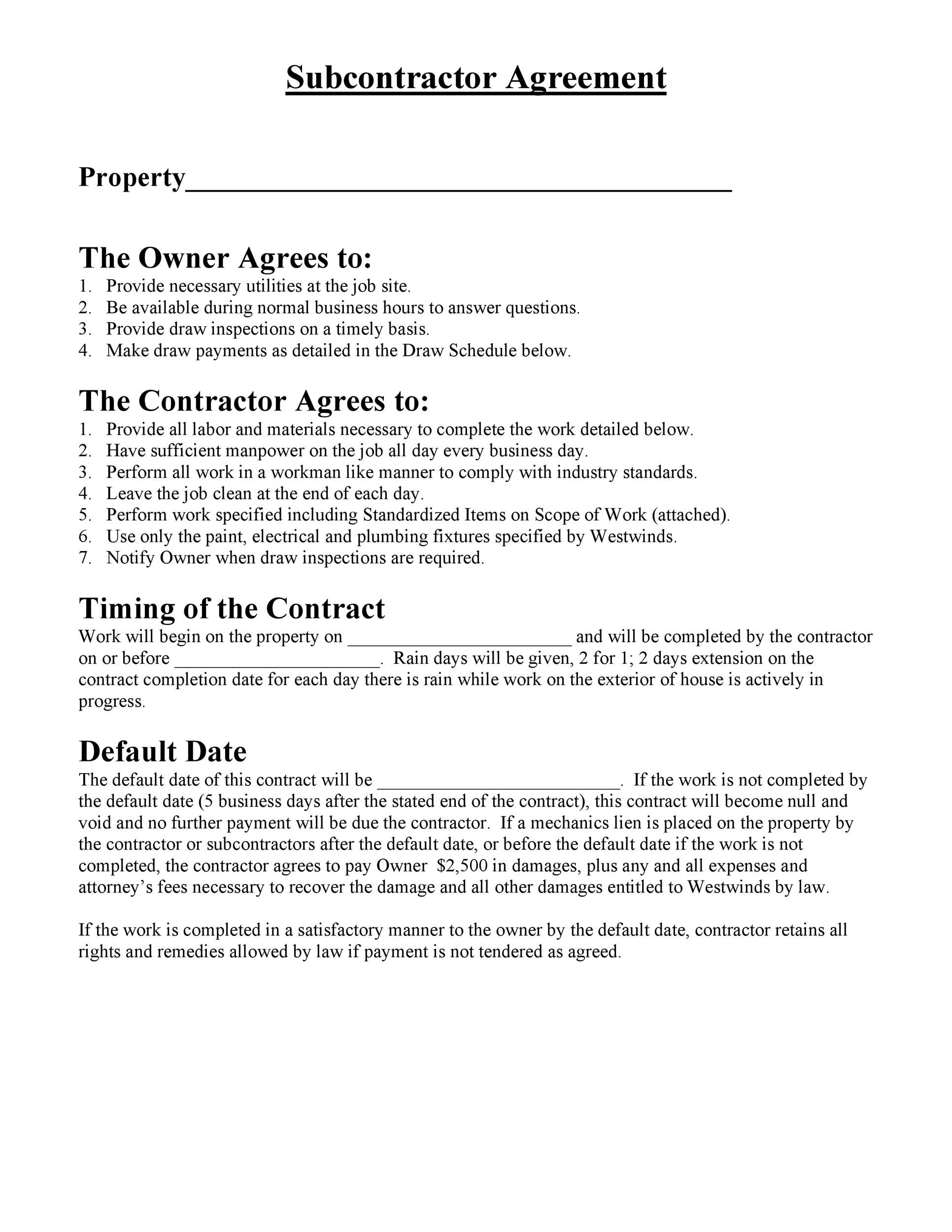 Need a Subcontractor Agreement? 39 Free Templates HERE - subcontractor agreement template