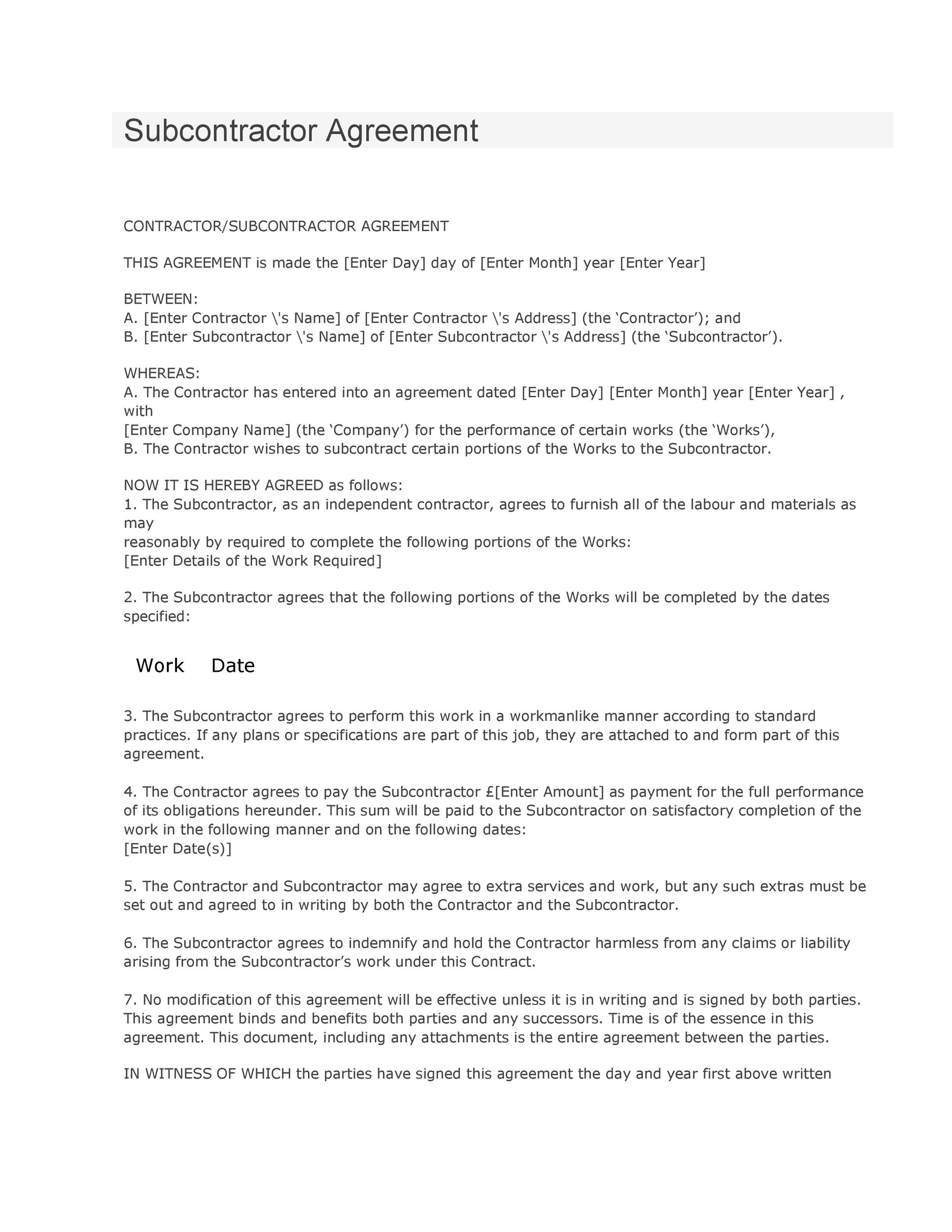 Performance Agreement Contract Printable Pdf Version Performance - job agreement contract