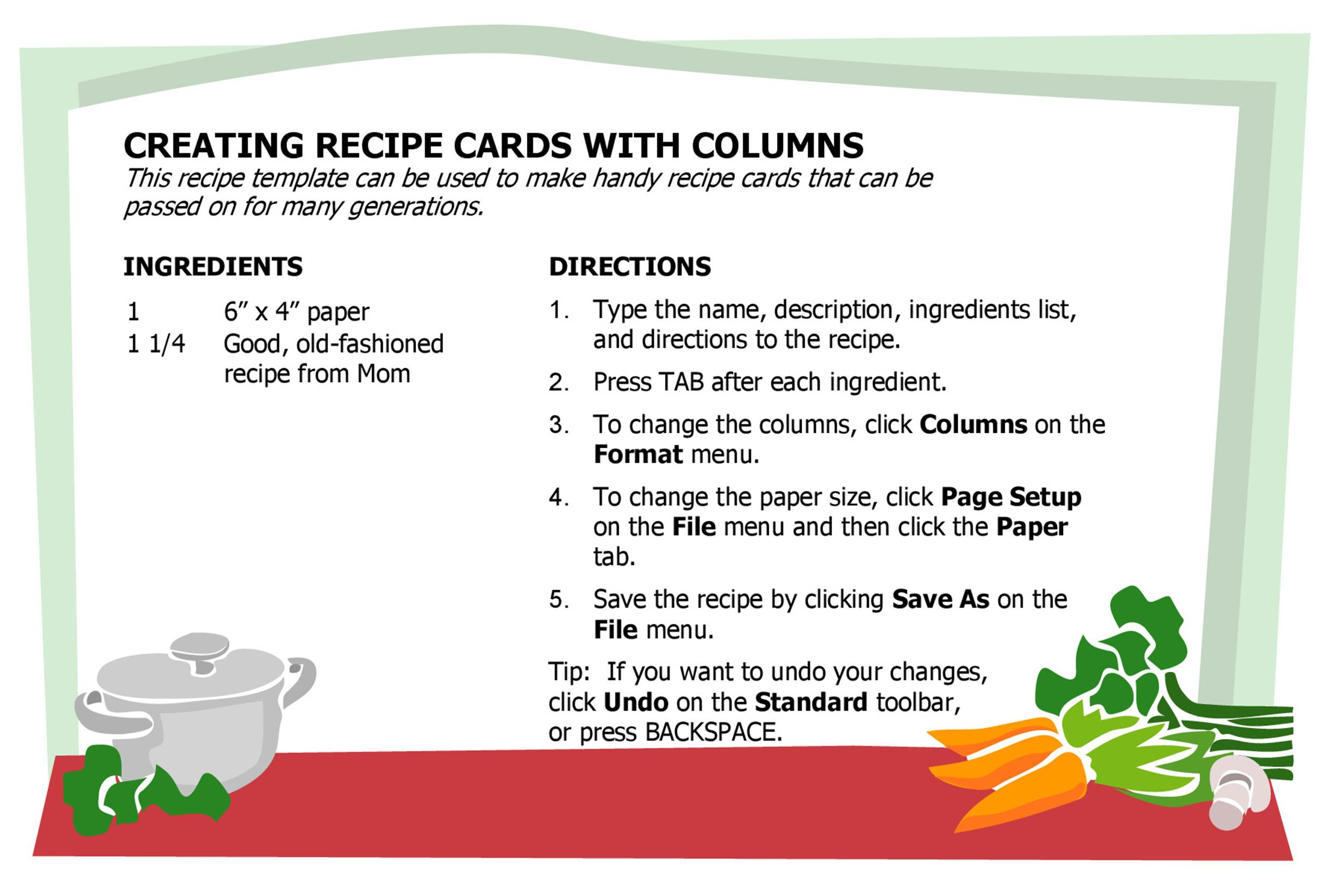 44 Perfect Cookbook Templates +Recipe Book  Recipe Cards