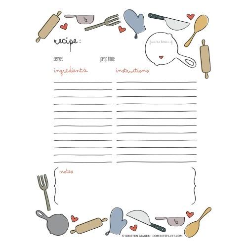 Medium Crop Of Recipe Book Template