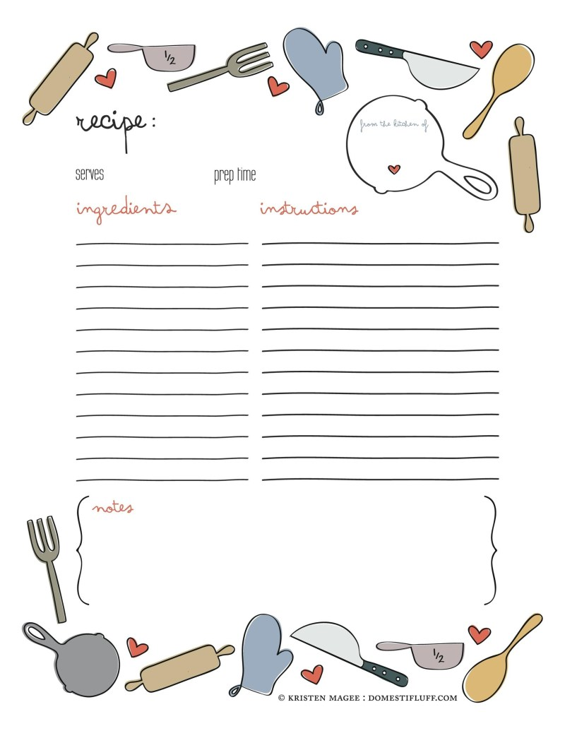 Large Of Recipe Book Template
