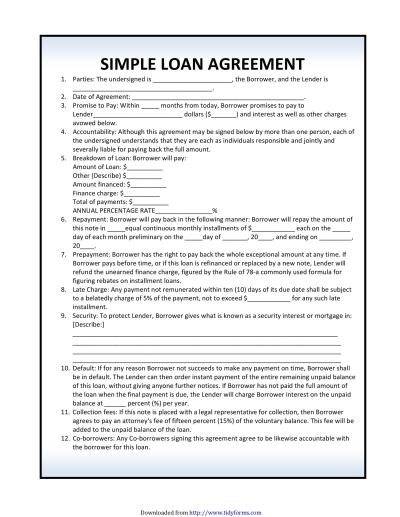 40+ Free Loan Agreement Templates [Word & PDF] - Template Lab