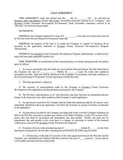 40+ Free Loan Agreement Templates [Word & PDF] - Template Lab
