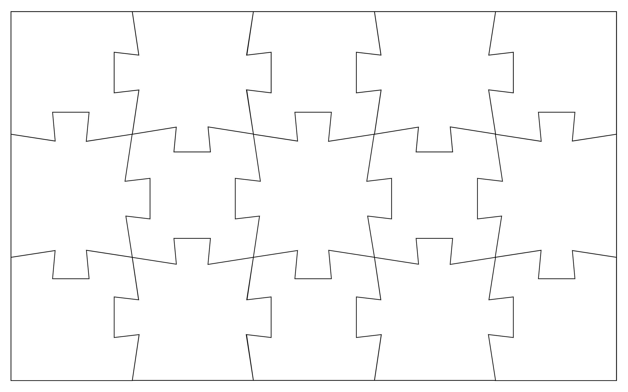 19 Printable Puzzle Piece Templates - Template Lab - rectangle template