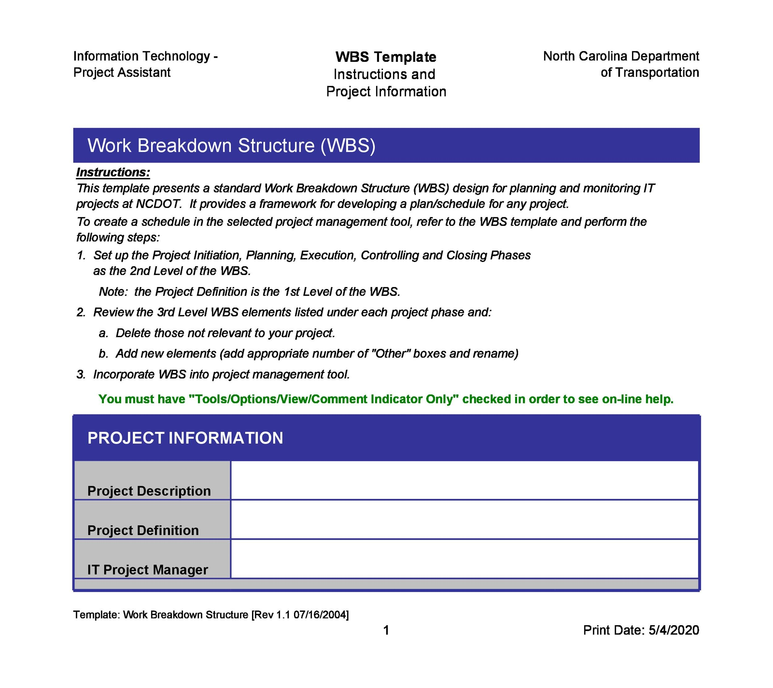 30+ Work Breakdown Structure Templates Free - Template Lab - work breakdown structure template