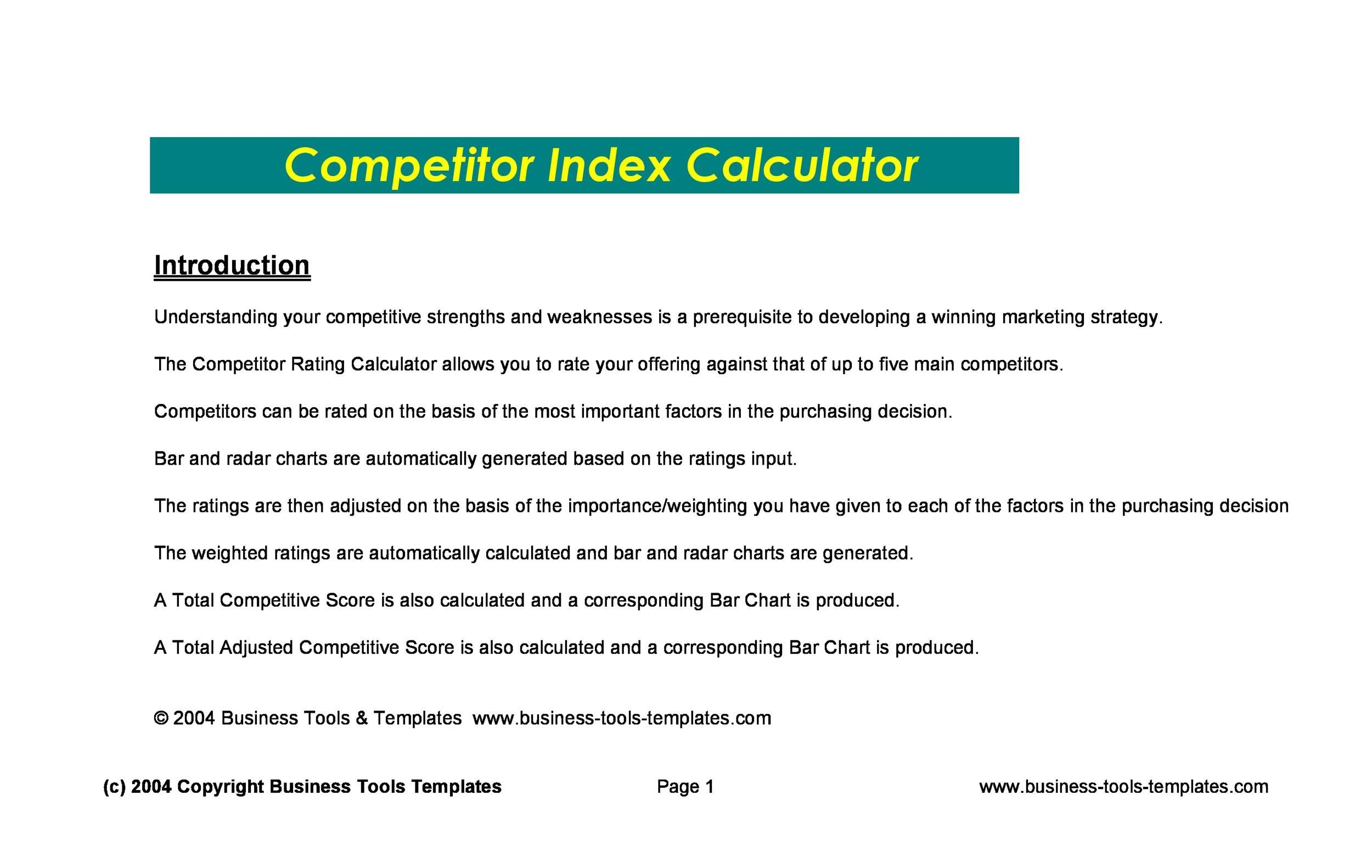 Competitive Analysis Sample - Resume Template Sample - competitive analysis templates