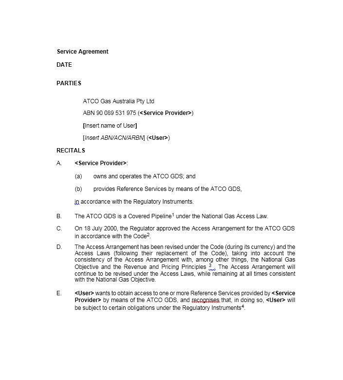 50+ Professional Service Agreement Templates  Contracts - agreement for services template