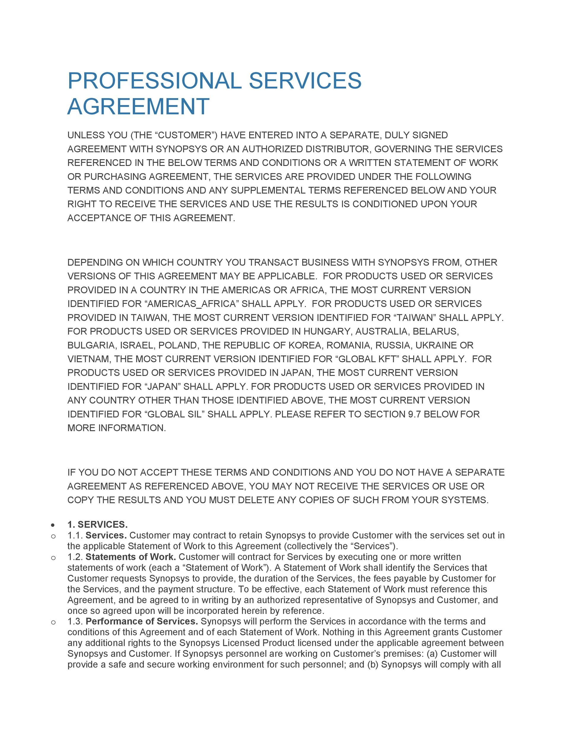 Contract Agreement Template u2013 11+ Free Word, Pdf DocumentService - business service agreement