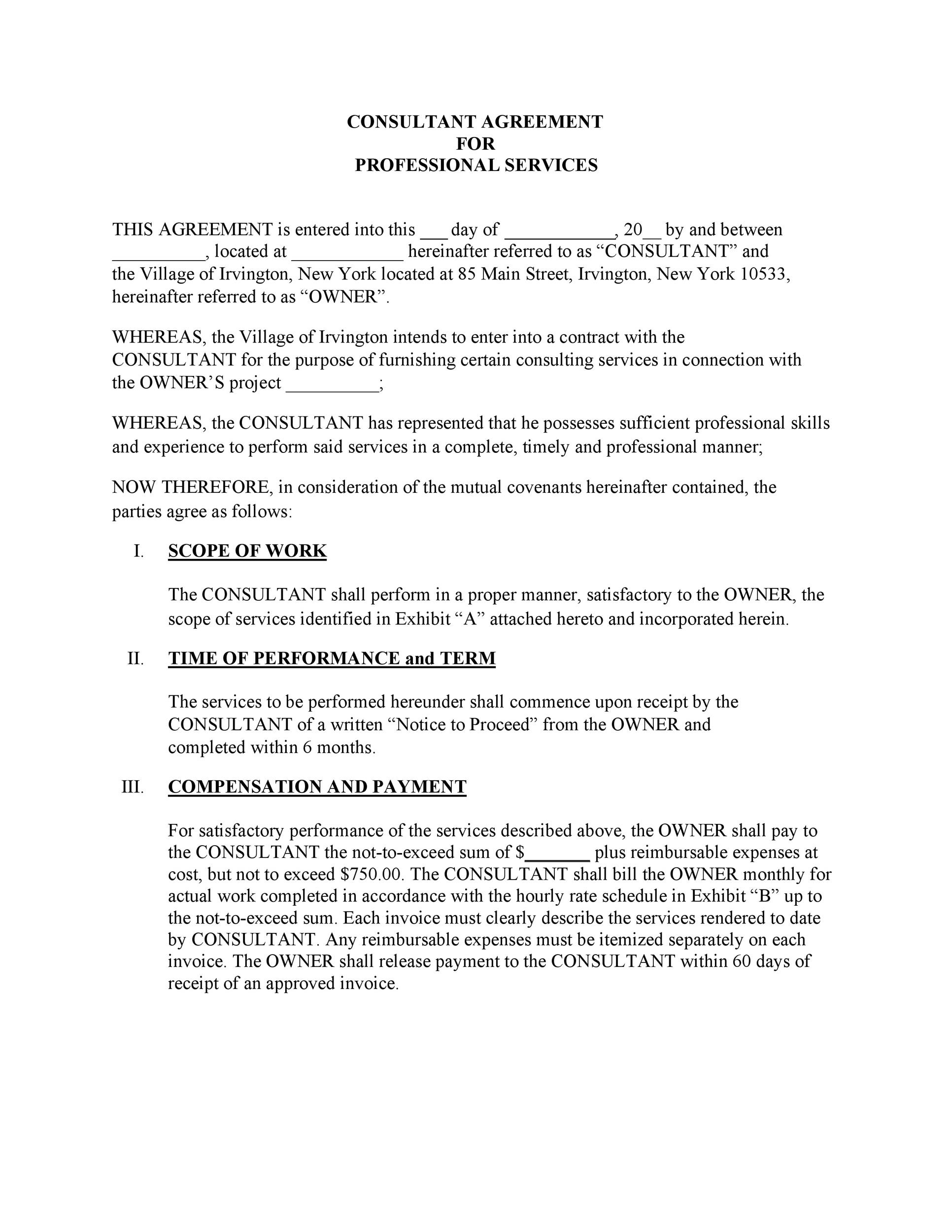 50+ Professional Service Agreement Templates  Contracts - service agreement