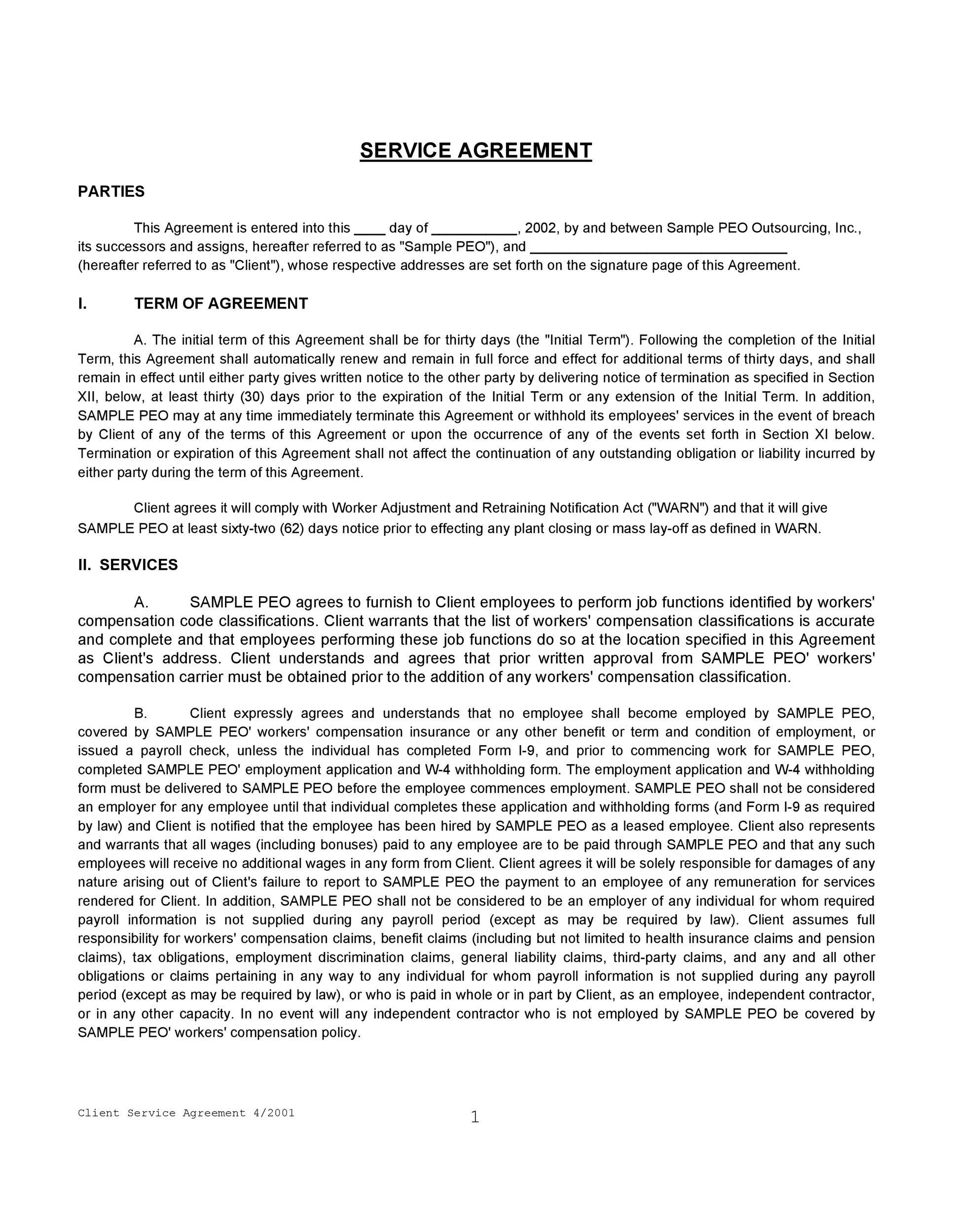 50+ Professional Service Agreement Templates  Contracts - two party contract template
