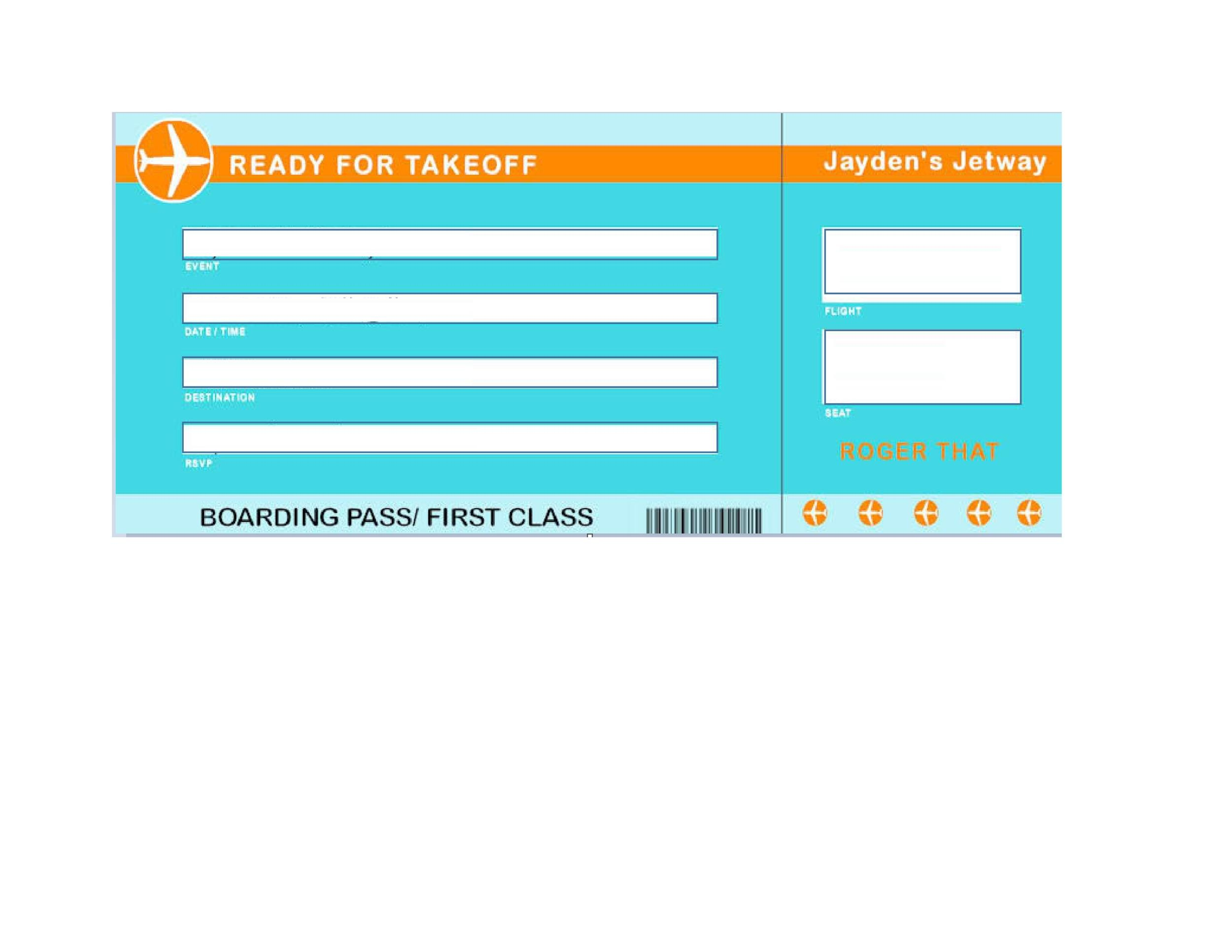 16 Real  Fake Boarding Pass Templates - 100 FREE ᐅ Template Lab