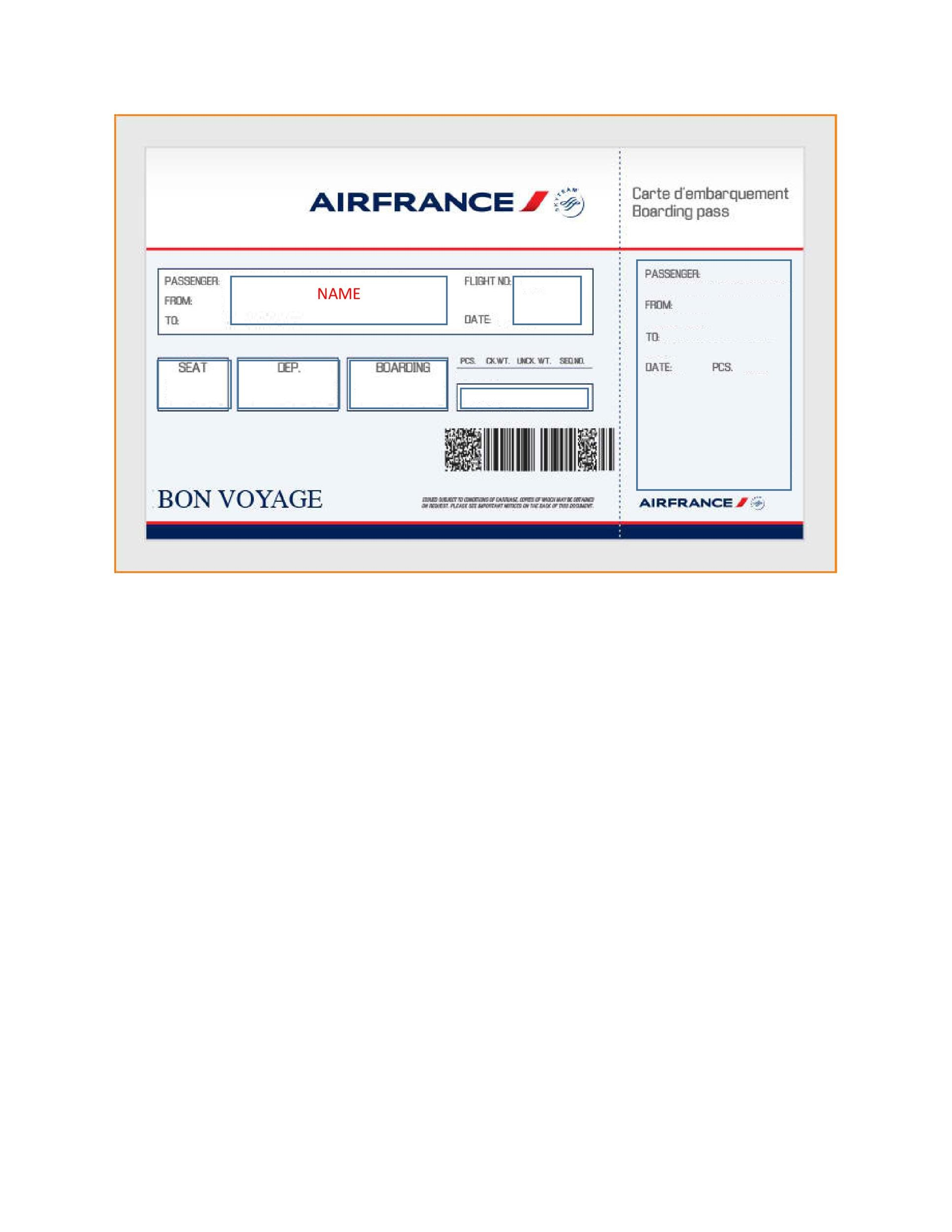 16 Real  Fake Boarding Pass Templates - 100 FREE - Template Lab - boarding pass template
