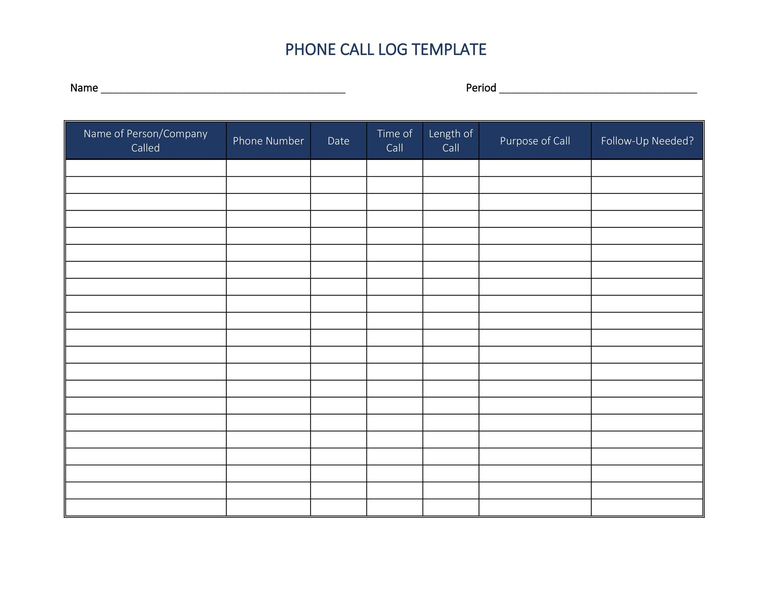 call log sample - Ozilalmanoof