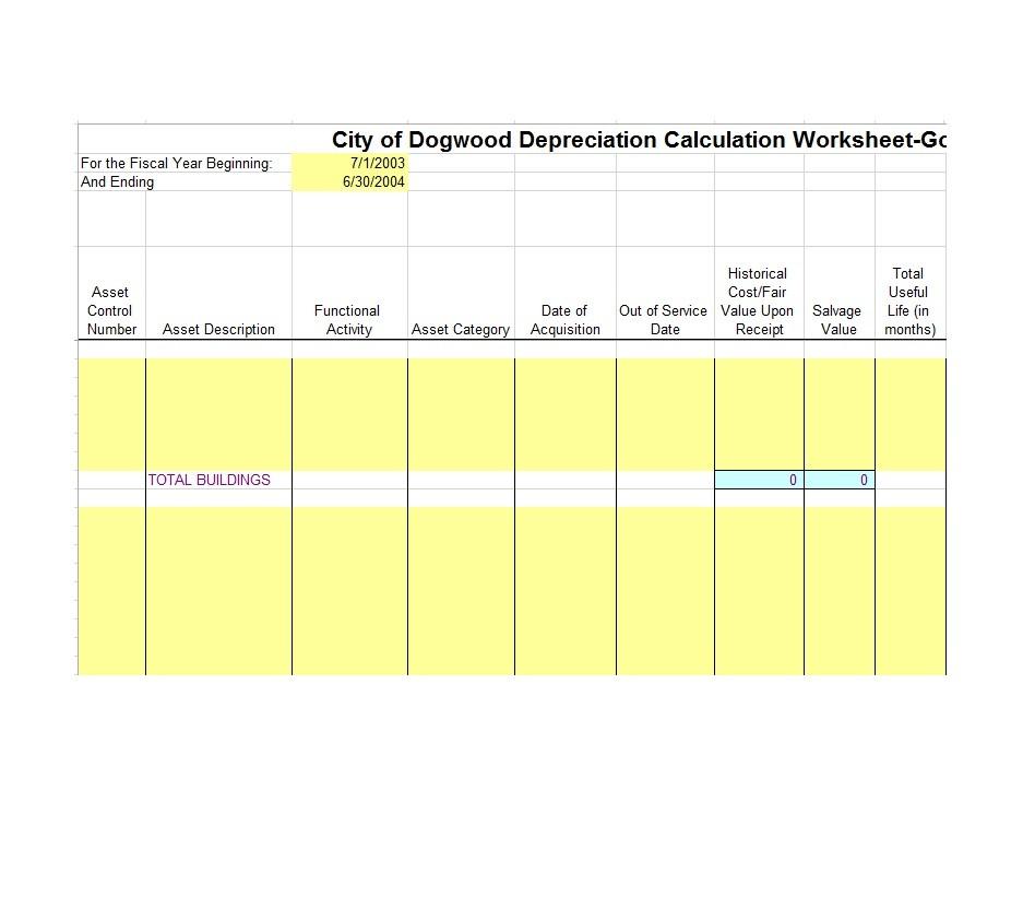 35 Depreciation Schedule Templates for Rental Property, Car, Asserts