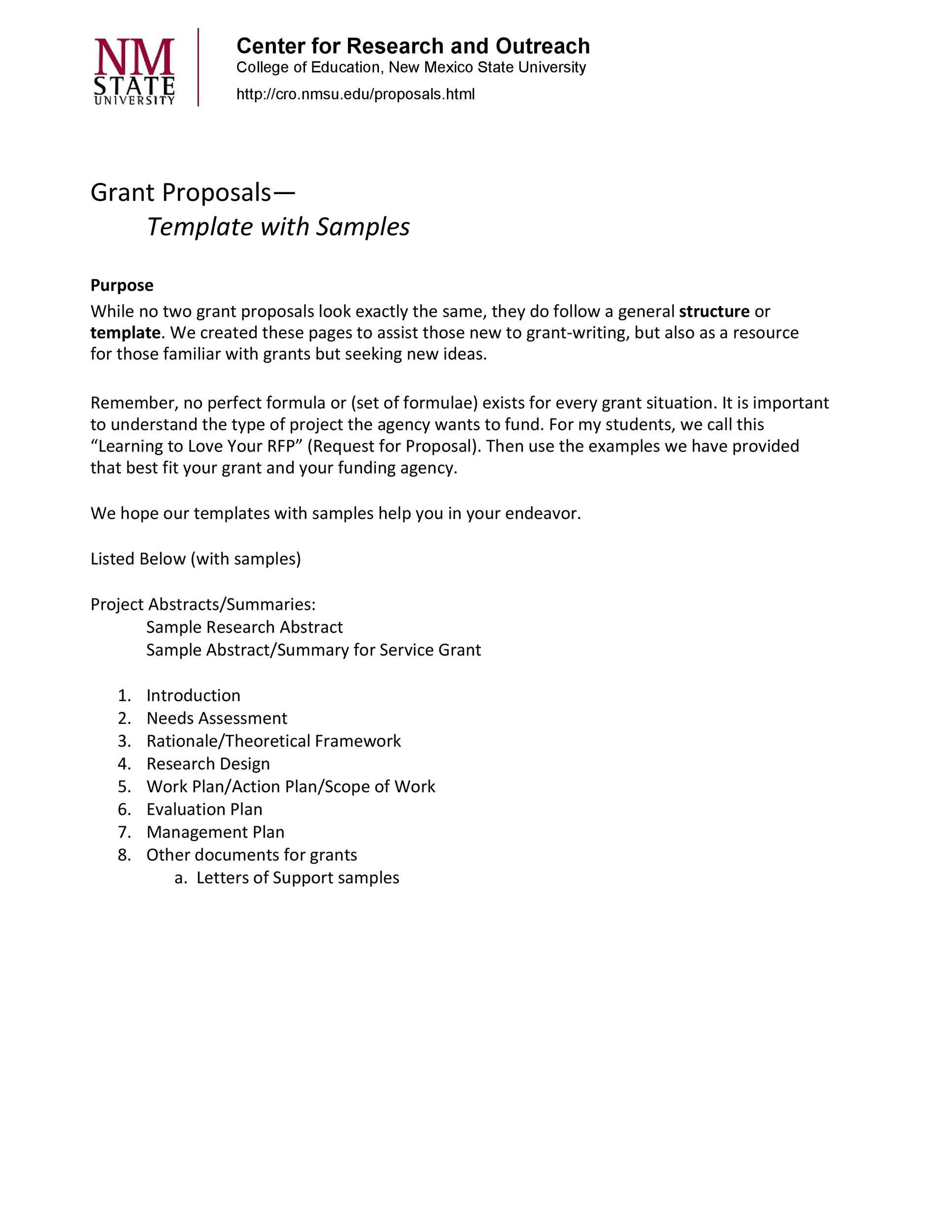 40+ Grant Proposal Templates NSF, Non-Profit, Research - Template Lab