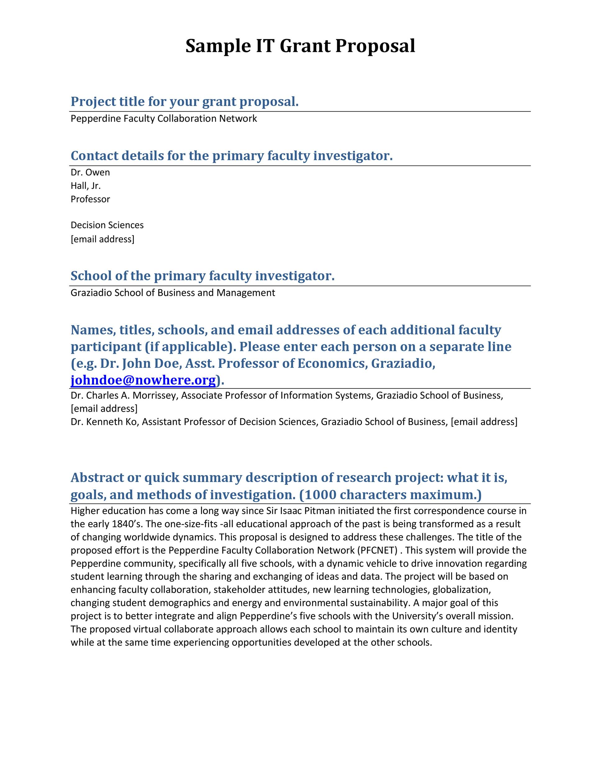 kurzwellii educational systems sample grant proposal use this - business proposal cover letter