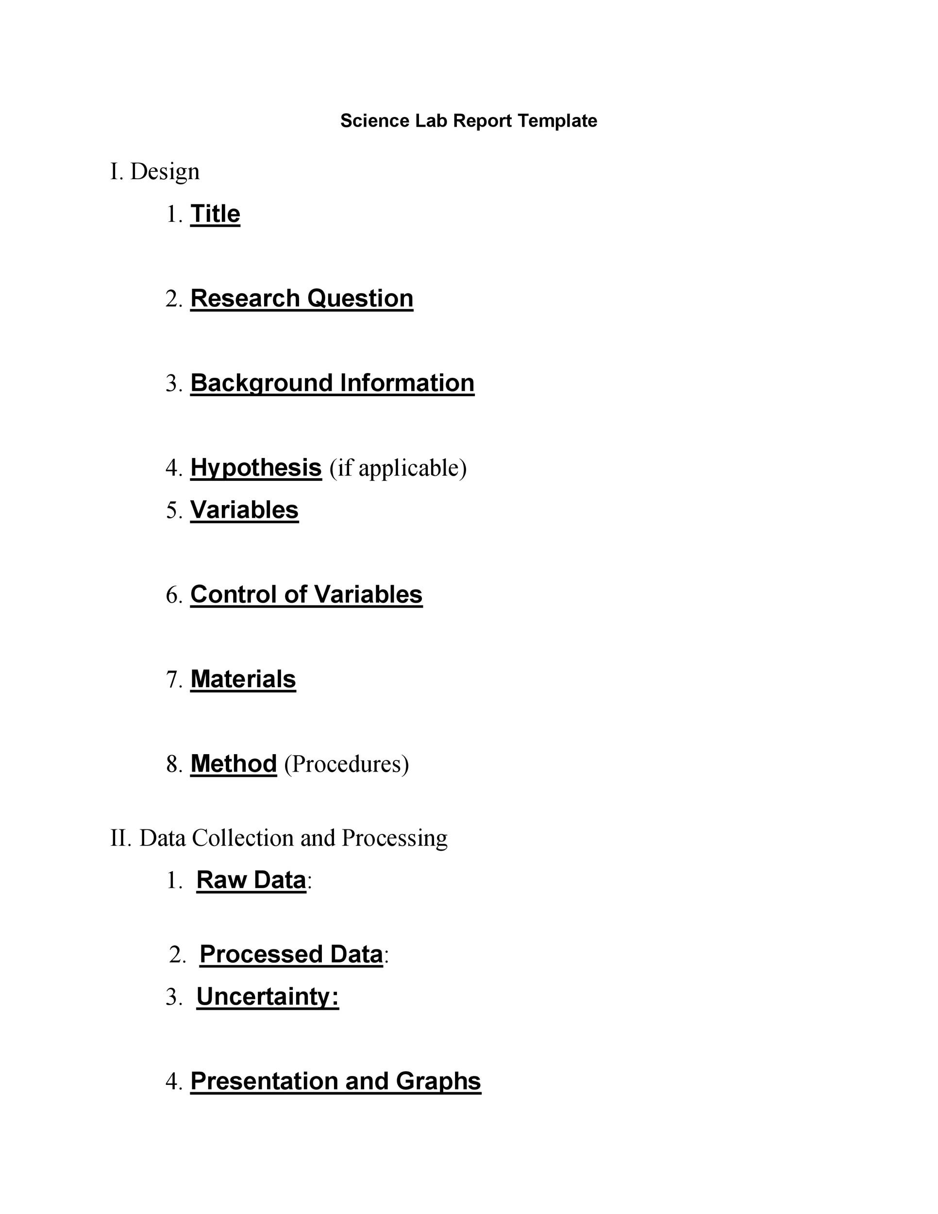 40 Lab Report Templates  Format Examples - Template Lab - the report format