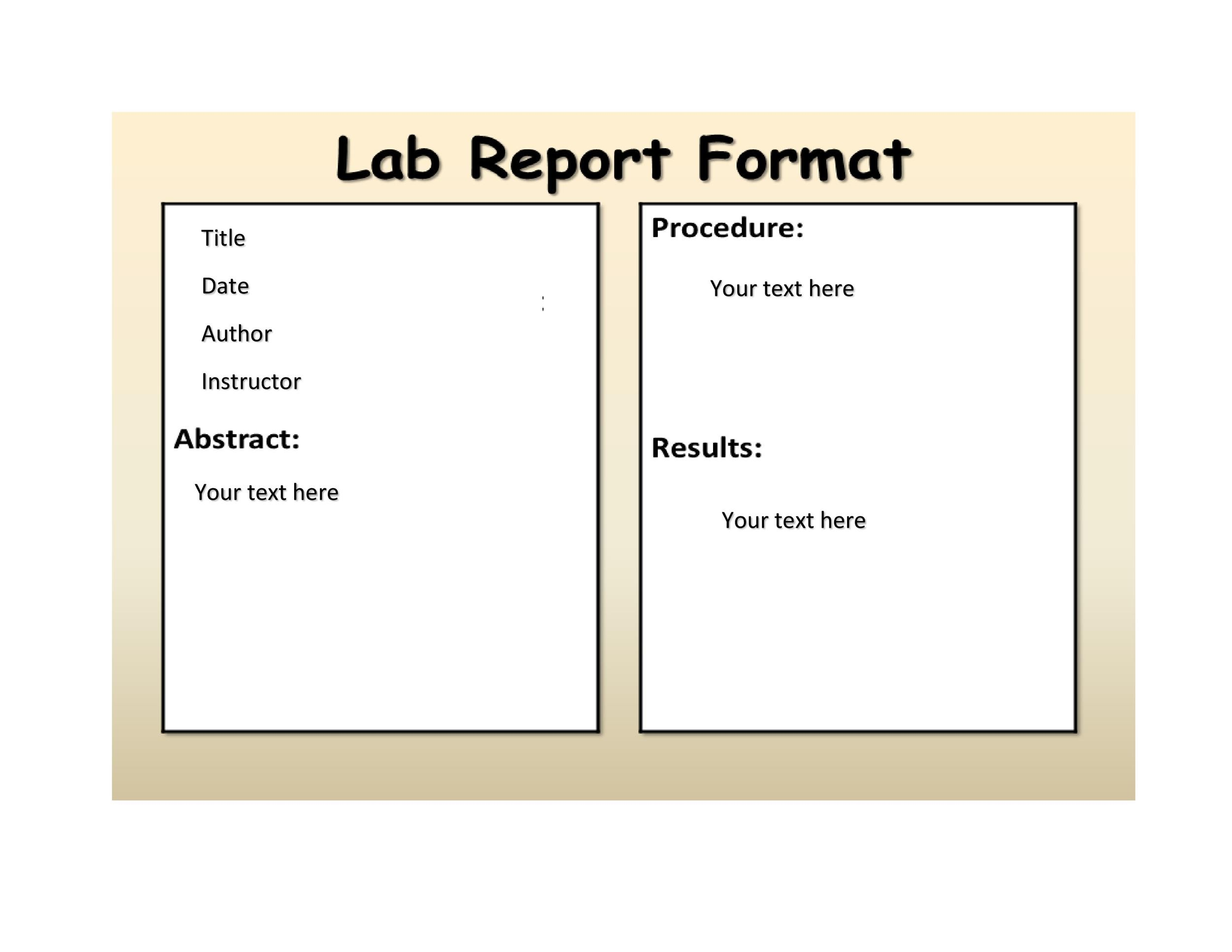 40 Lab Report Templates  Format Examples ᐅ Template Lab