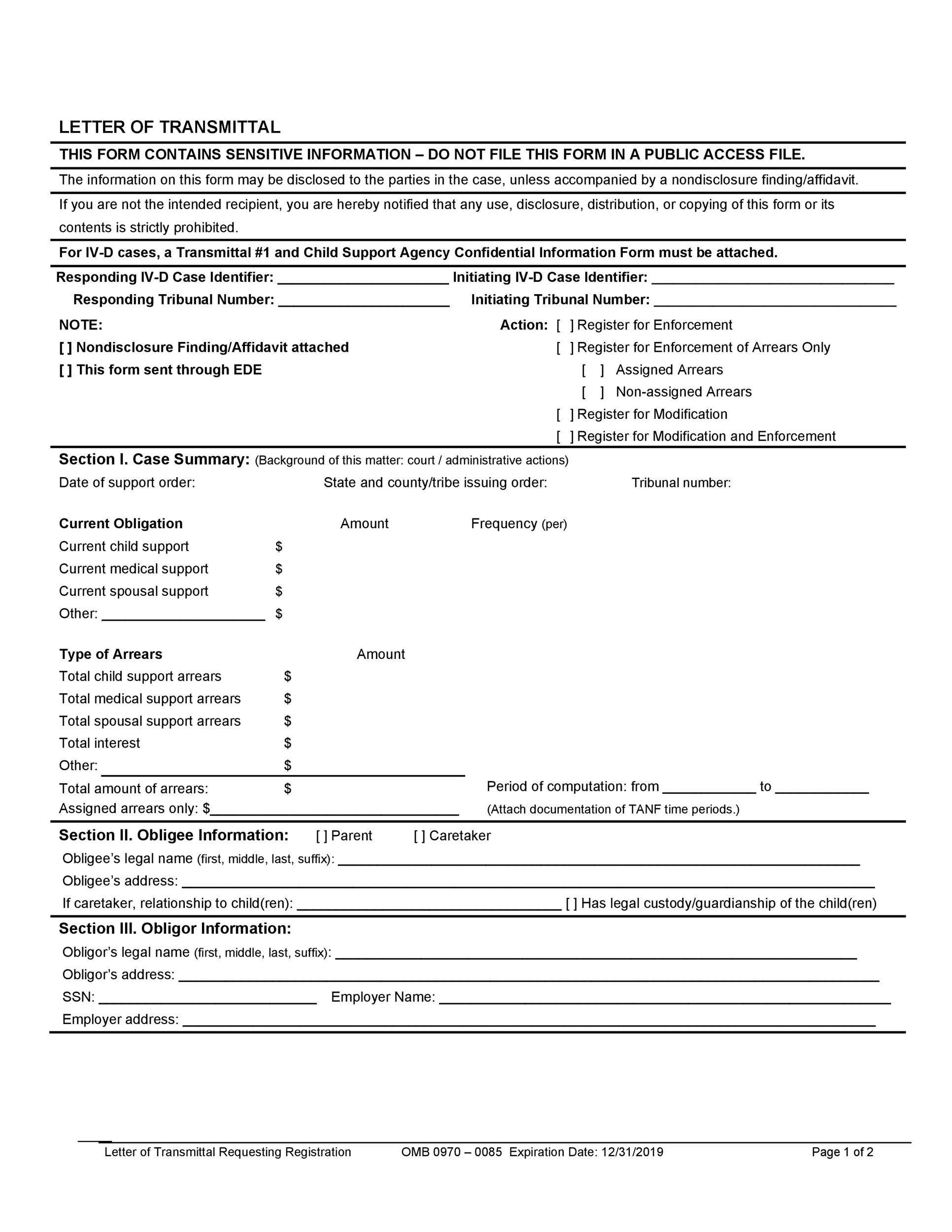 Letter of Transmittal - 40+ Great Examples  Templates - Template Lab