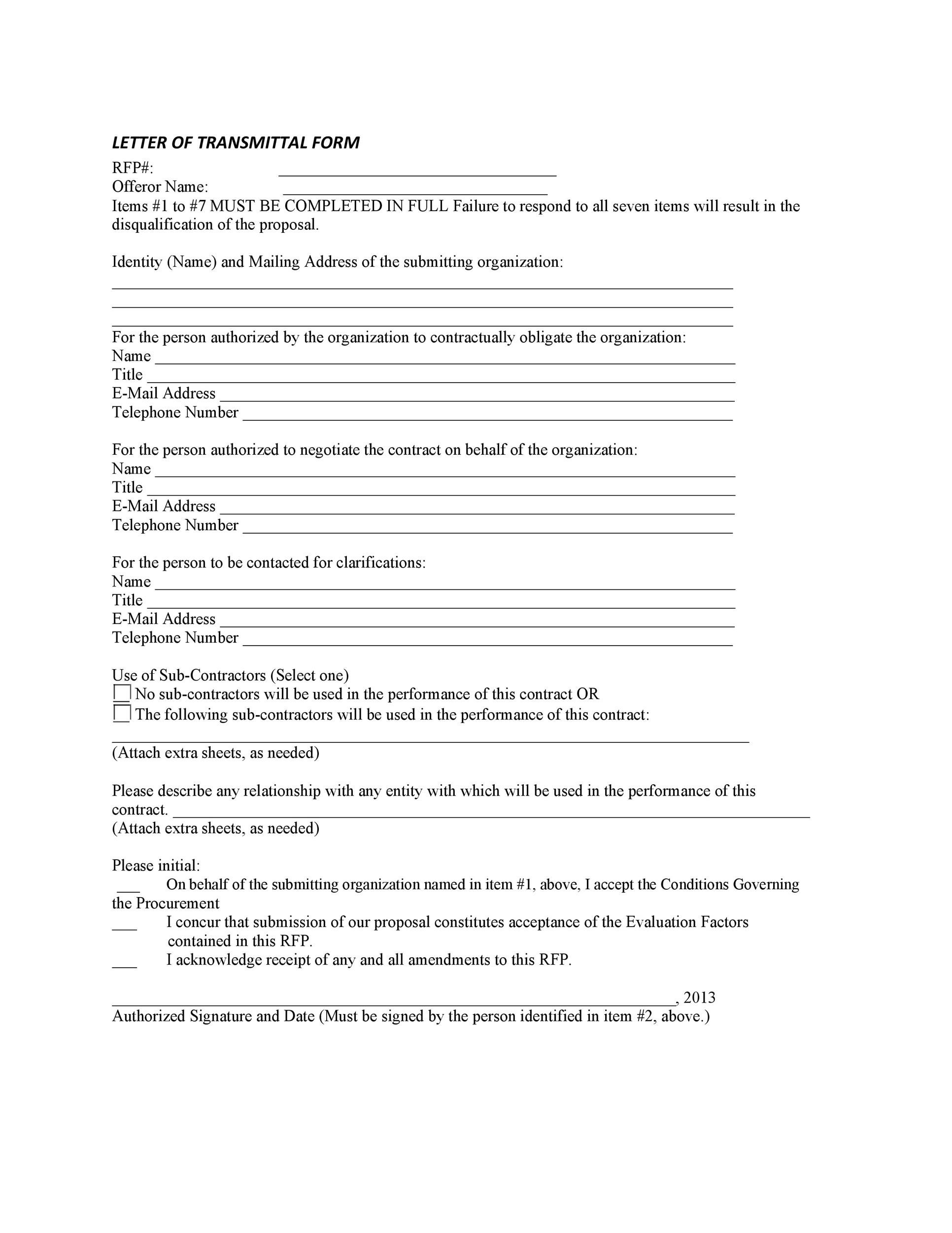 Letter of Transmittal - 40+ Great Examples  Templates - Template Lab - letter of transmittal for proposal