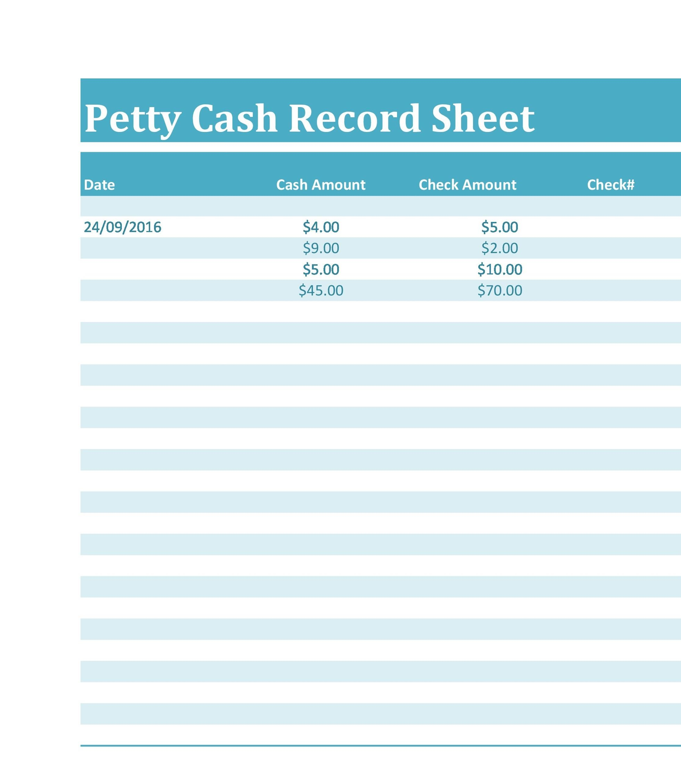 40 Petty Cash Log Templates  Forms Excel, PDF, Word - Template Lab