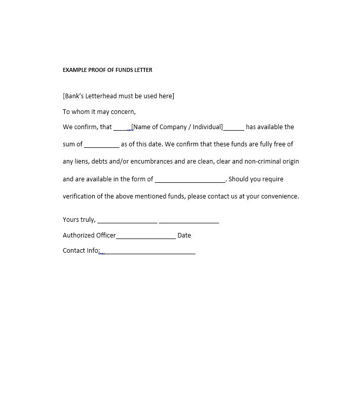 25 Best Proof of Funds Letter Templates - Template Lab - Free Affidavit Forms Online
