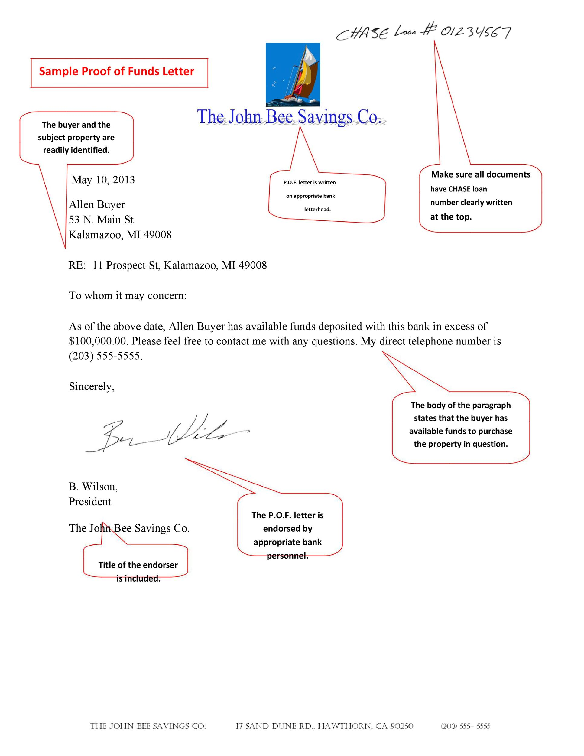 25 Best Proof of Funds Letter Templates ᐅ Template Lab