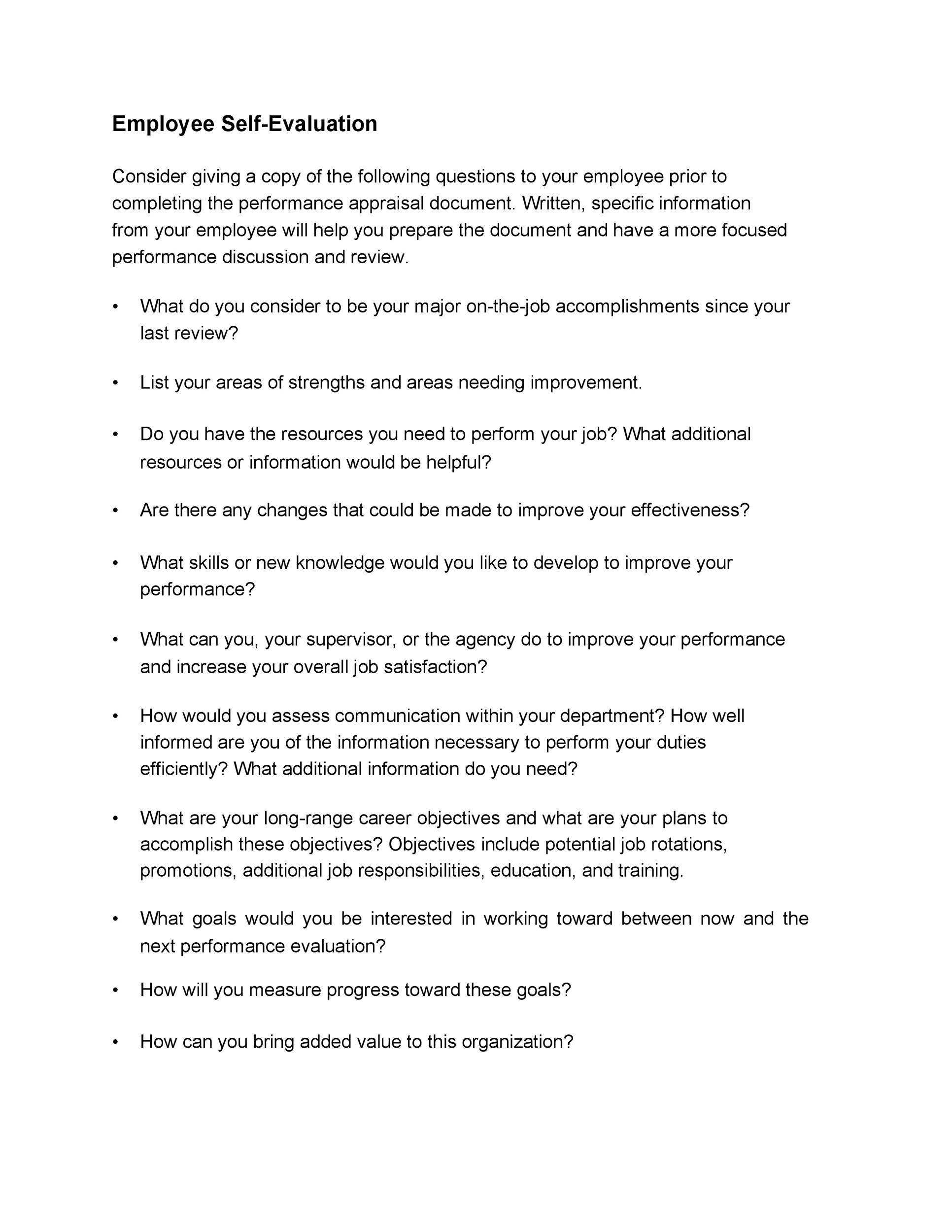job review examples - Goalgoodwinmetals - Self Evaluation Examples For Performance Review