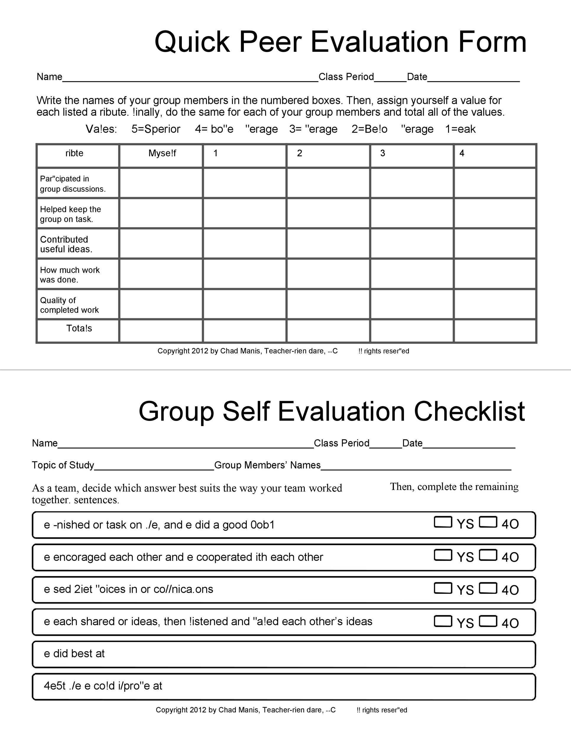 50+ Self Evaluation Examples, Forms  Questions ᐅ Template Lab