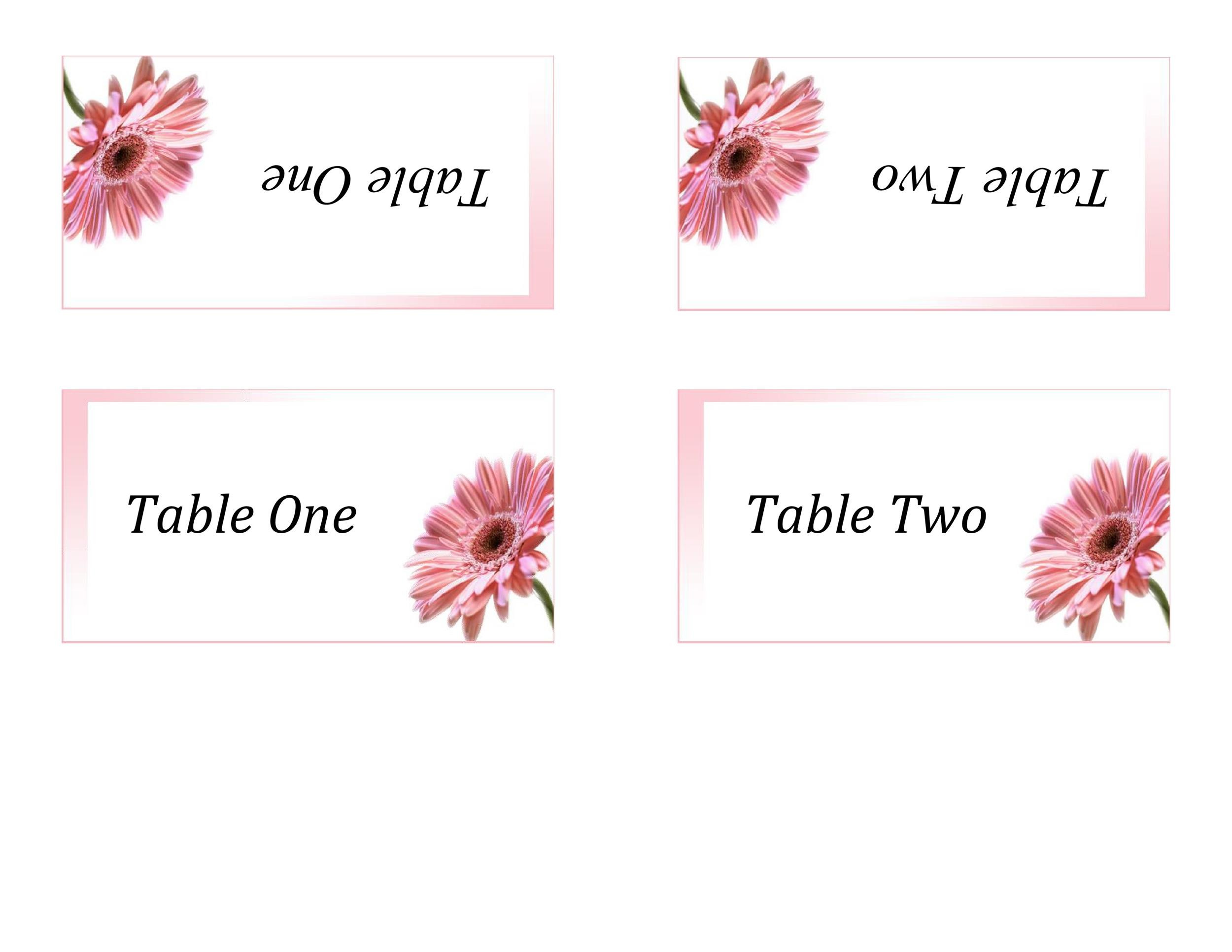 16 Printable Table Tent Templates and Cards - Template Lab