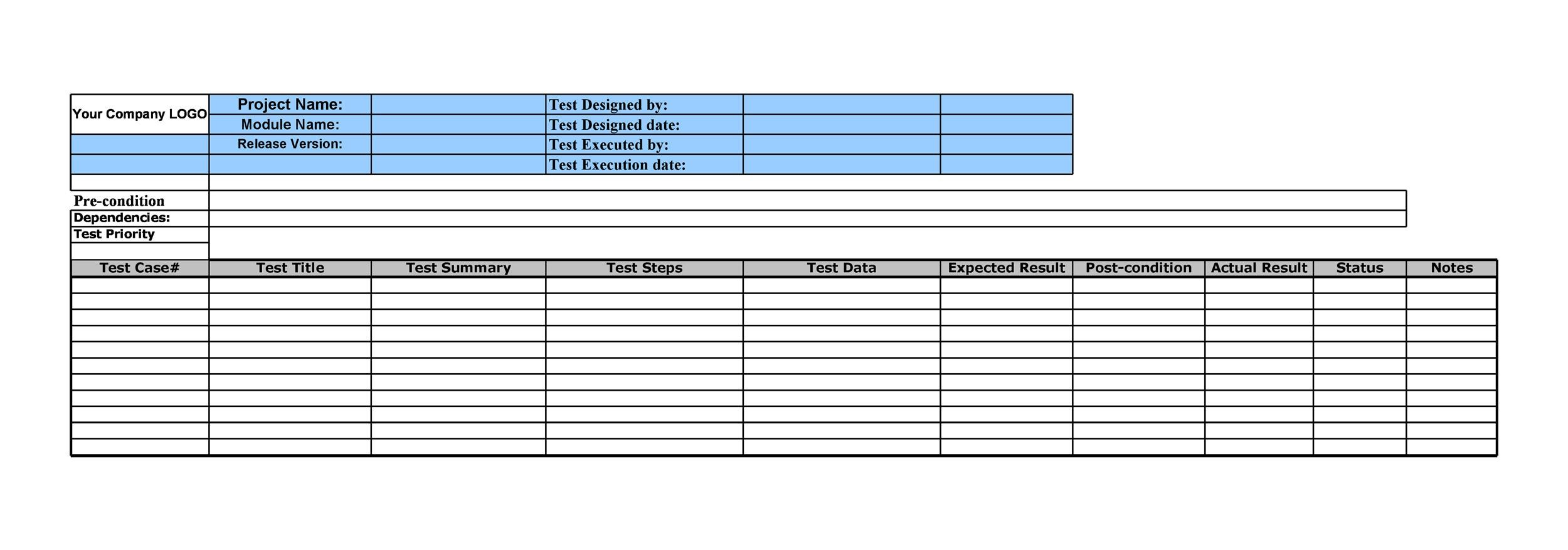 43 Test Case Templates / Examples from TOP Software Companies - test case template