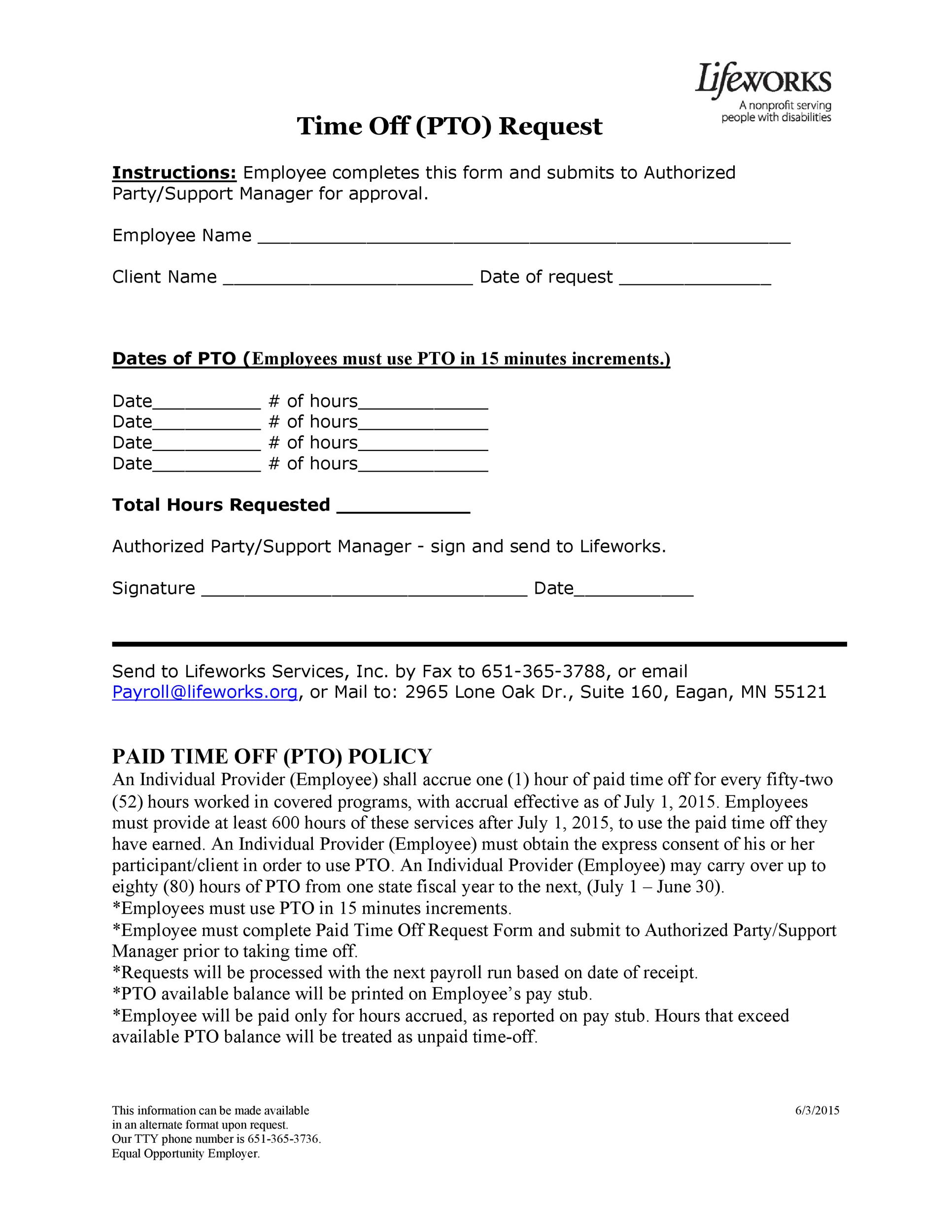 40+ Effective Time Off Request Forms  Templates - Template Lab - time off request forms