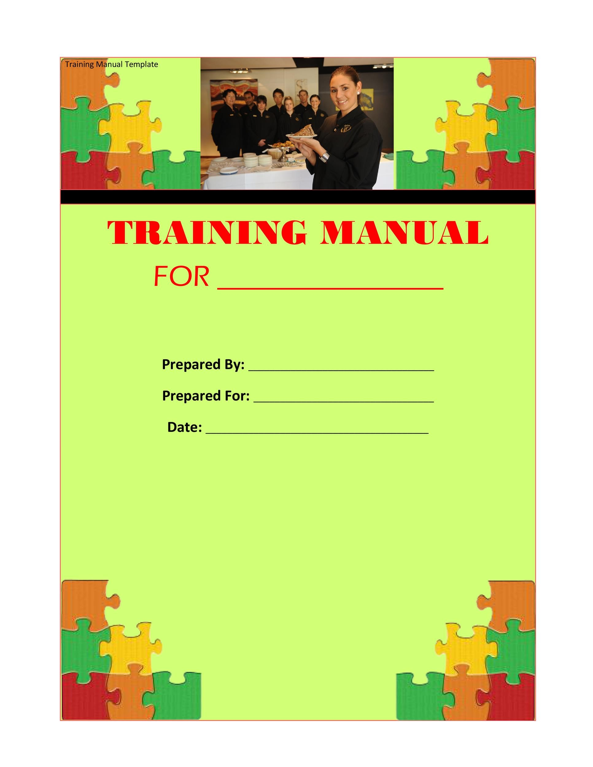 Free Training Manual Templates - Fiveoutsiders