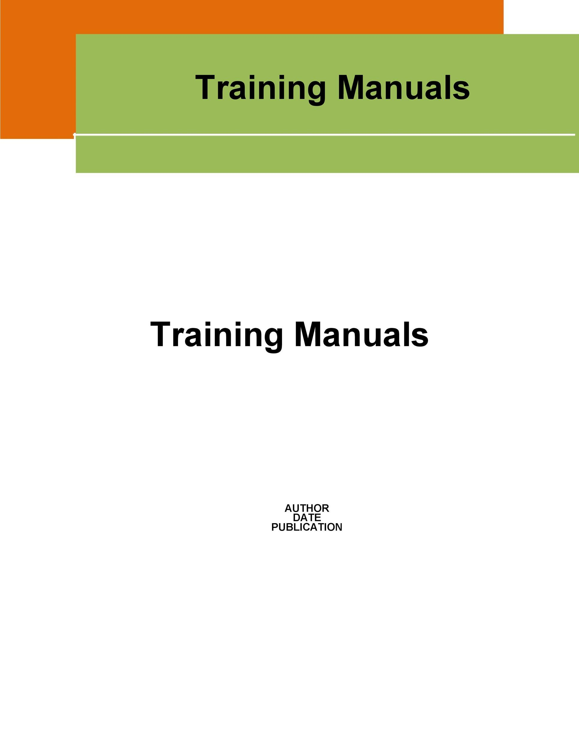 Training Manual - 40+ Free Templates  Examples in MS Word
