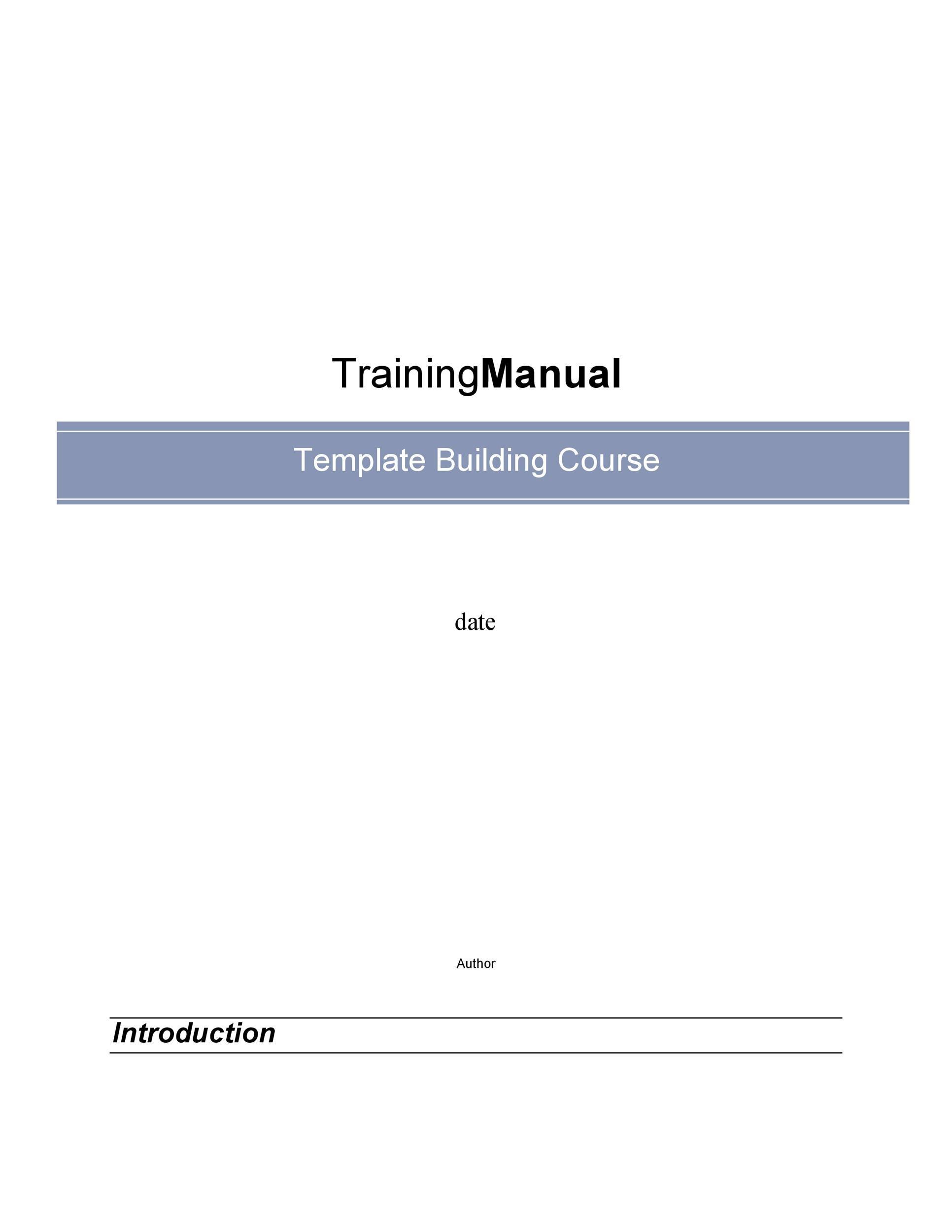 Training Course Template - Eliolera - training outline template