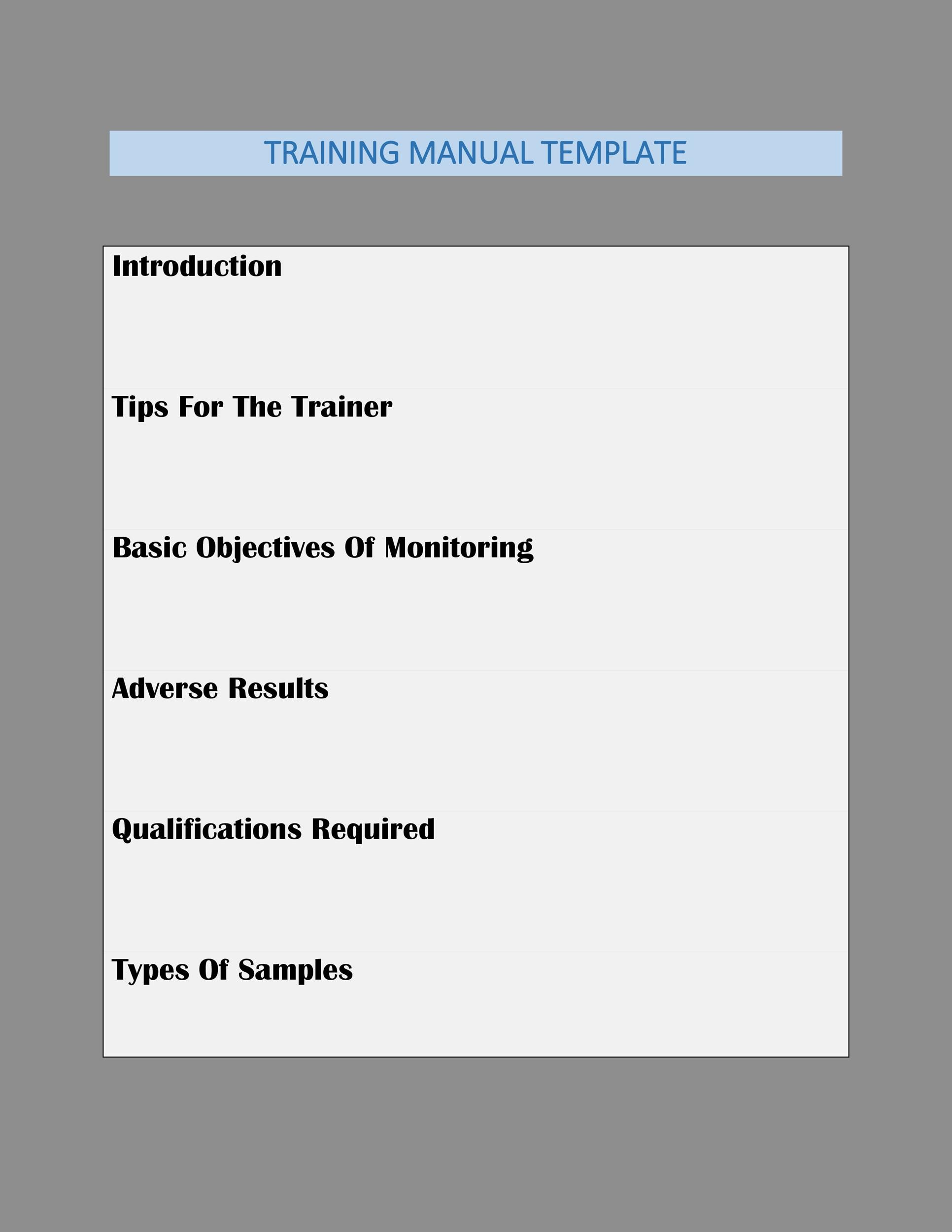 Training Manual - 40+ Free Templates  Examples in MS Word - product manual template