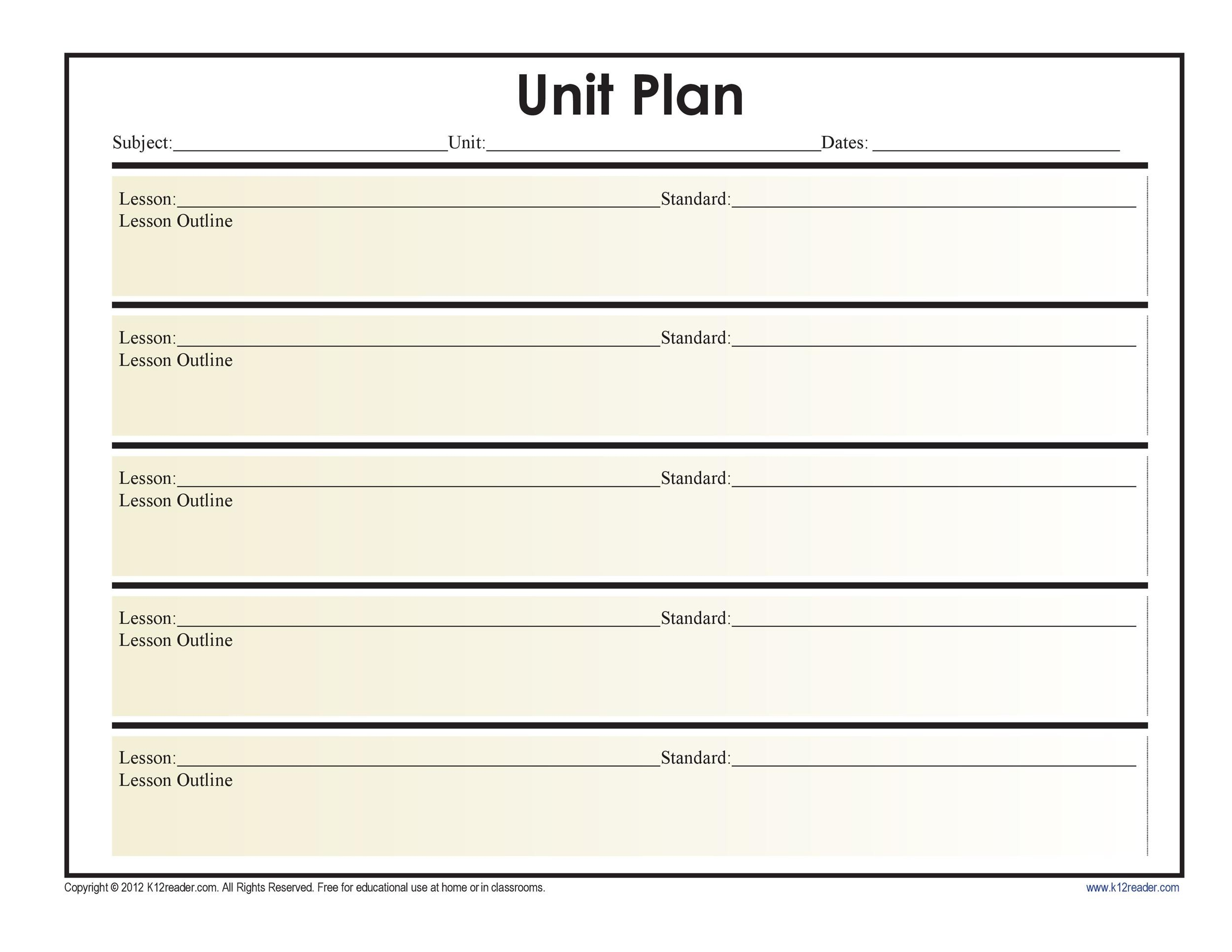 39 Best Unit Plan Templates Word, PDF - Template Lab