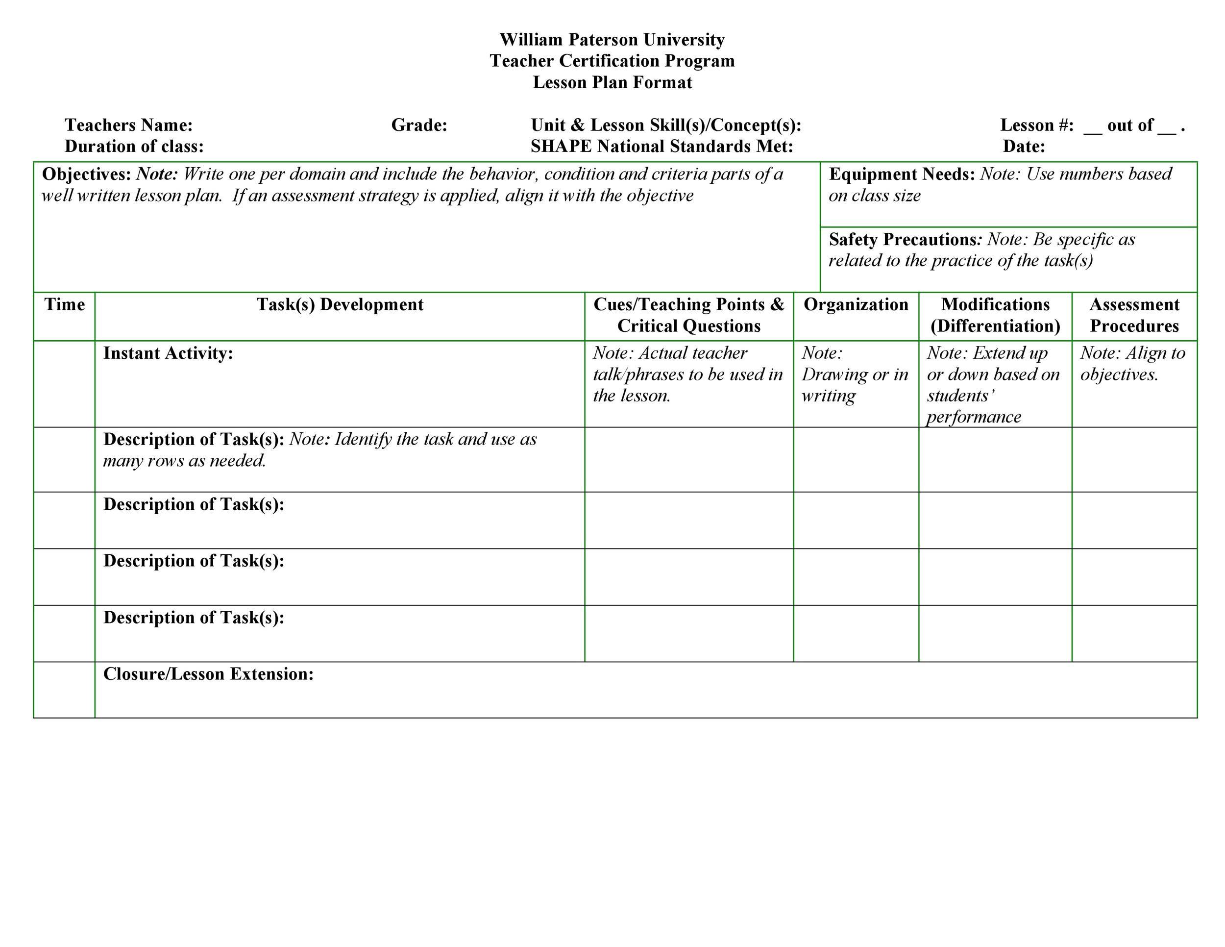 39 Best Unit Plan Templates Word, PDF - Template Lab