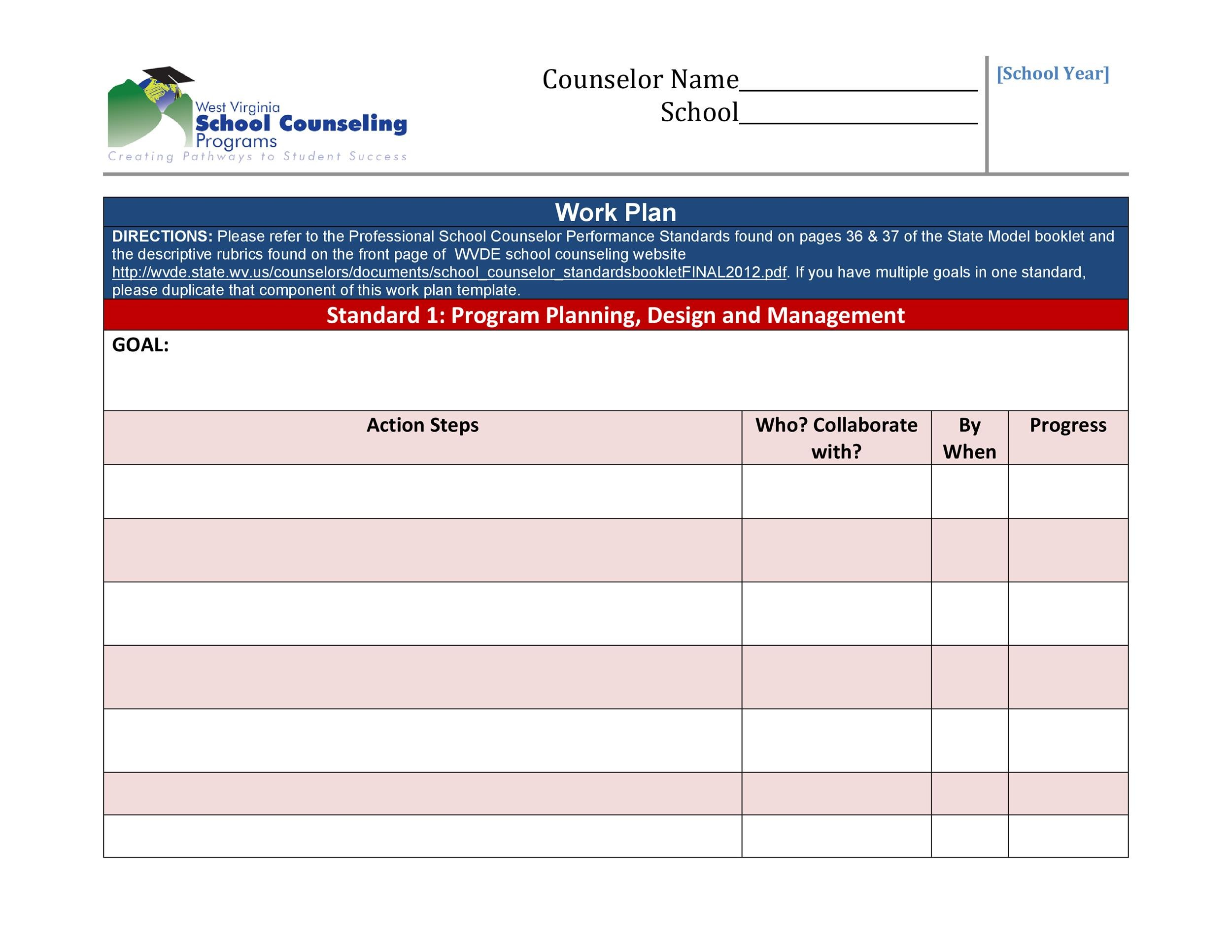 Work Plan - 40 Great Templates  Samples (Excel / Word) ᐅ Template Lab