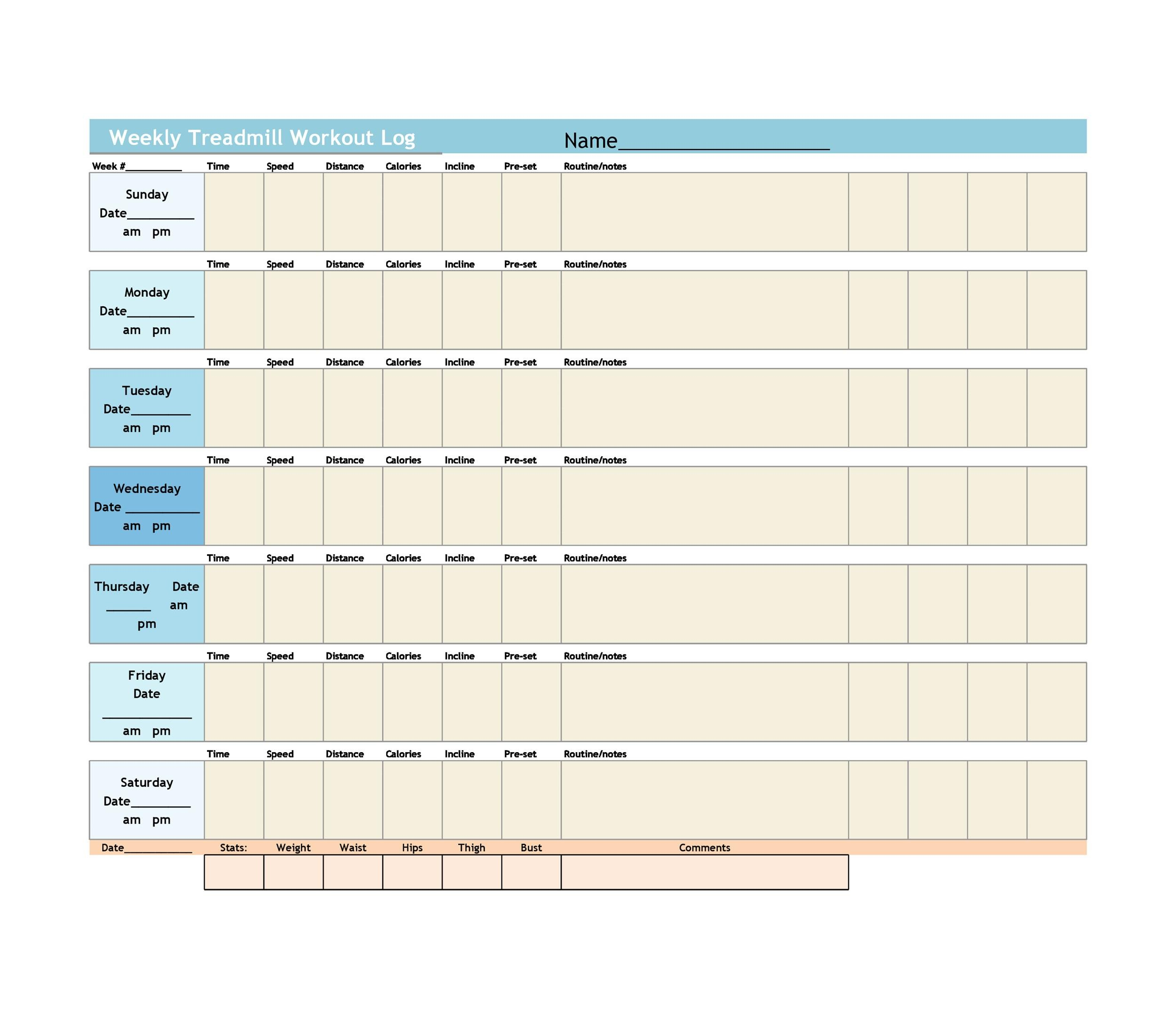 40+ Effective Workout Log  Calendar Templates - Template Lab - monthly workout plan template