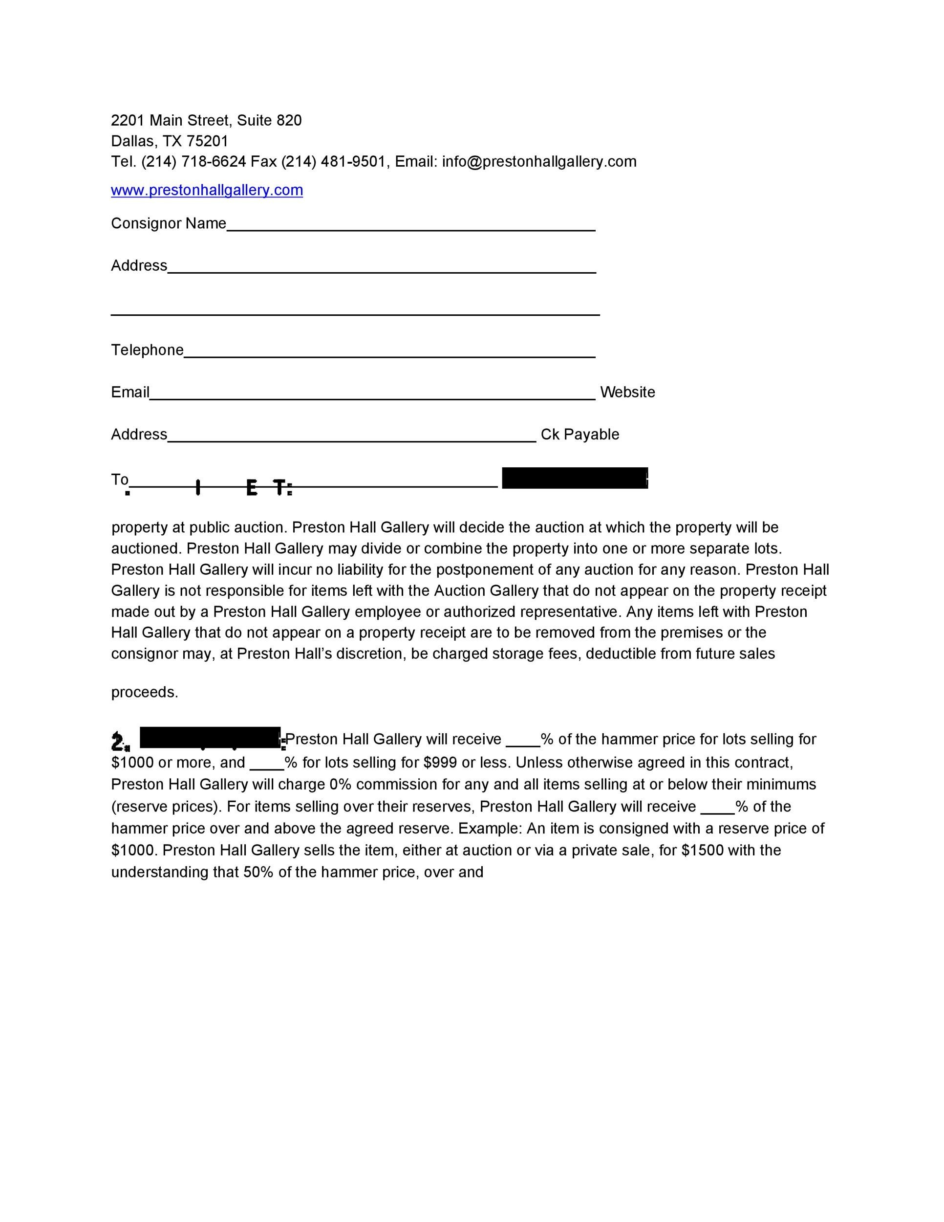 40+ Best Consignment Agreement Templates  Forms - Template Lab - consignment form template