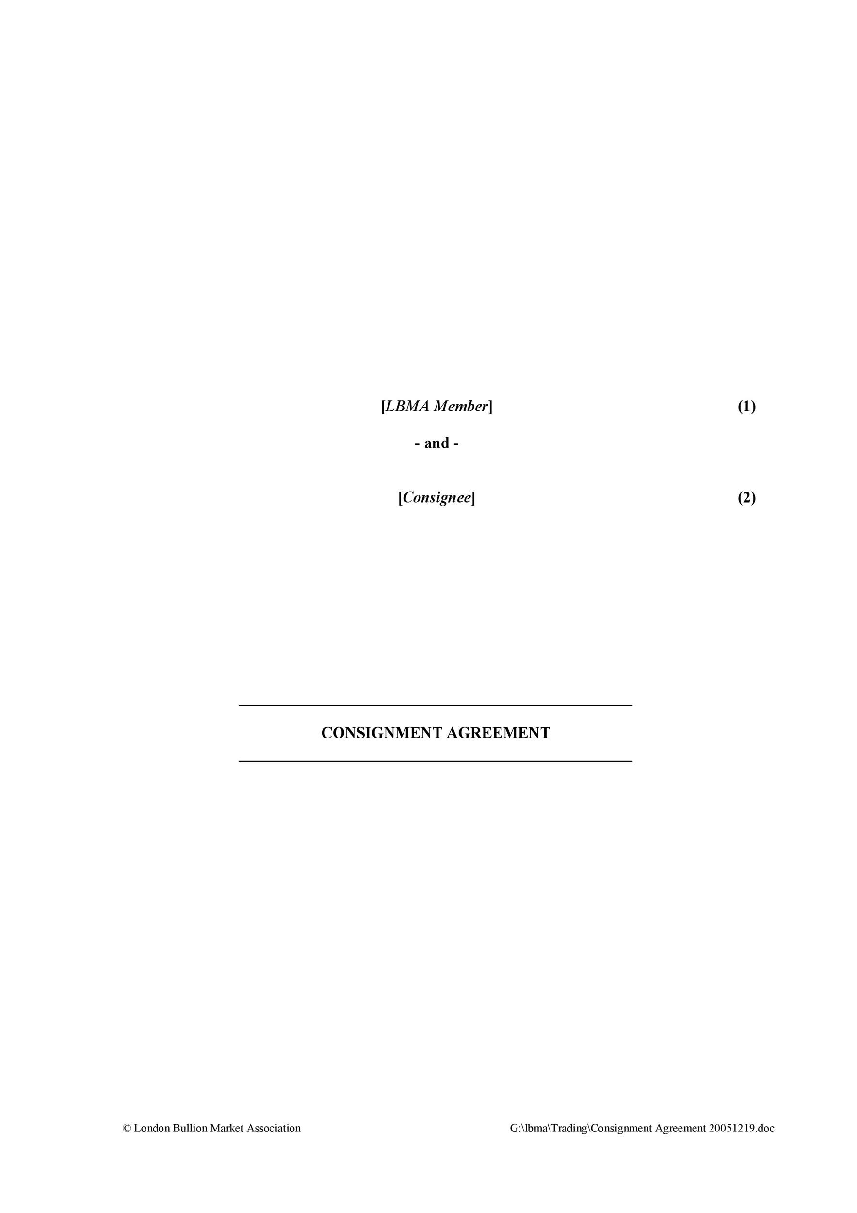 40+ Best Consignment Agreement Templates  Forms - Template Lab - Consignment Agreement Template
