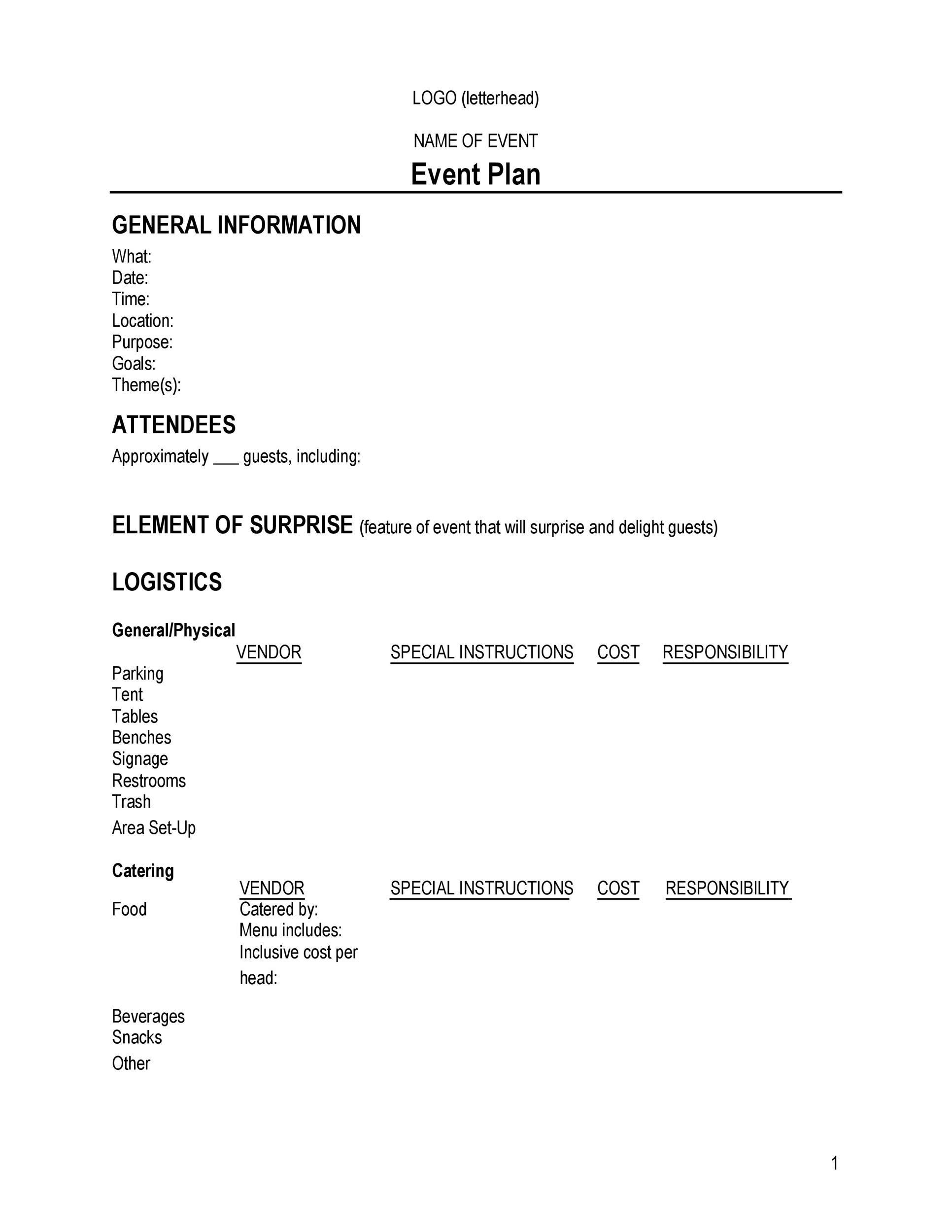 50 Professional Event Planning Checklist Templates - Template Lab - event plan template