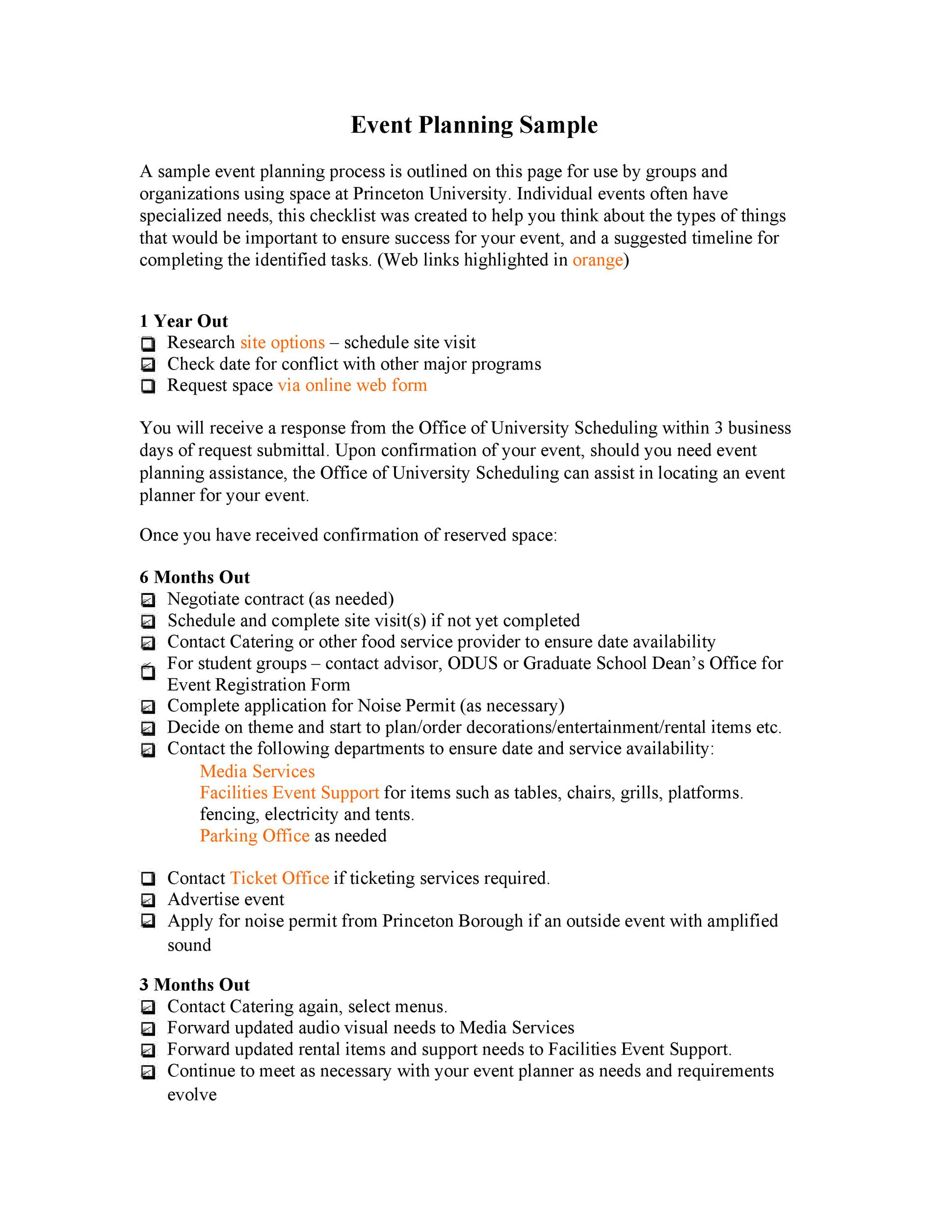50 Professional Event Planning Checklist Templates - Template Lab - events planning template