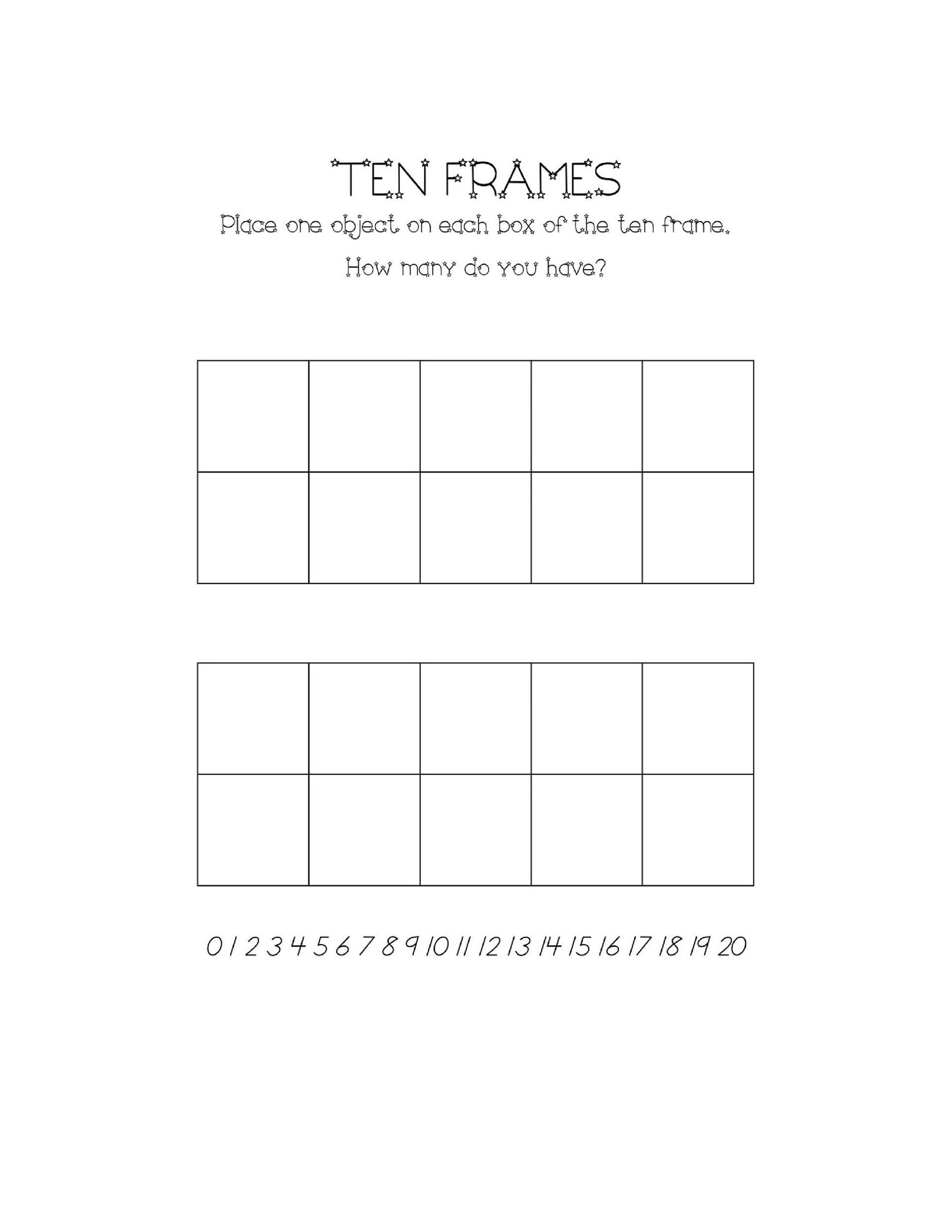 36 Printable Ten Frame Templates (Free) ᐅ Template Lab
