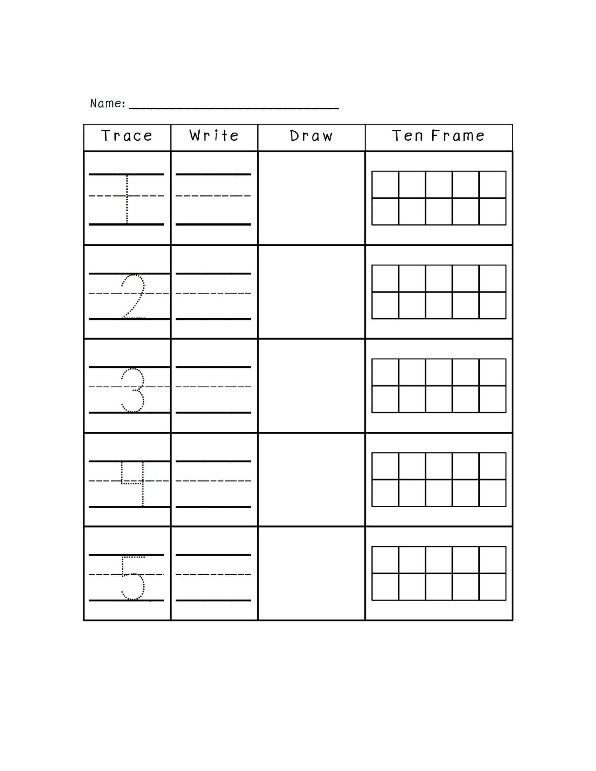36 Printable Ten Frame Templates (Free) ᐅ Template Lab